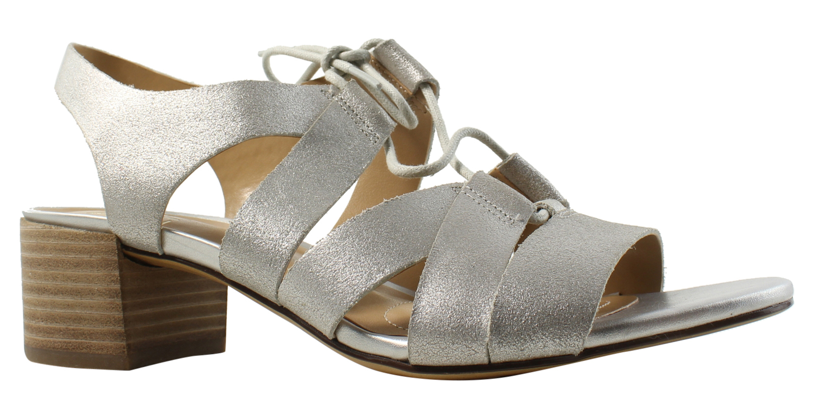 1ae631890137 Naturalizer Womens Silver Ankle Strap Sandals Size 7 (335603)