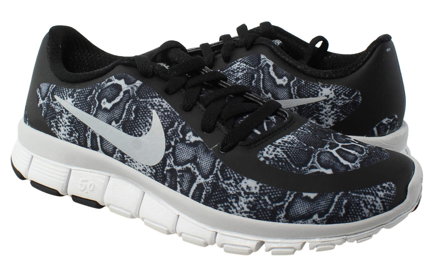 7bcca0049a1ac New Nike Womens Free 5.0 V4 Ns Pt Black Running Shoes Size 5 ...