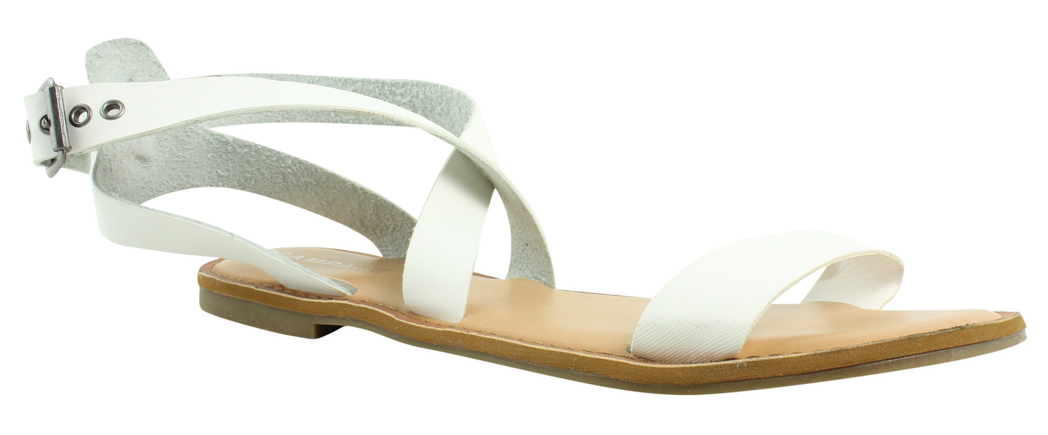 Details about Rampage Womens White Ankle Strap Sandals Size 11 (379978) a6589a4a6