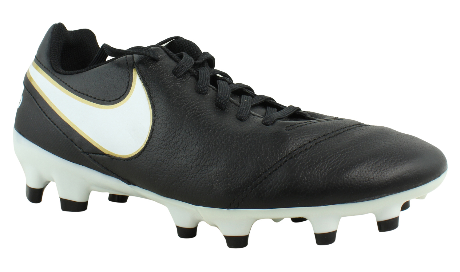 Image is loading Nike-Womens-Tiempo-Genio-Ii-Black-Soccer-Shoes- 84951a410f