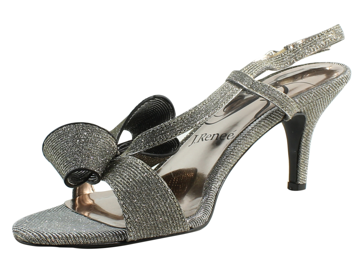 8d9e3a2d39f07 New J. Renee Womens Fedelia Pewter Sandals Size 8 (A