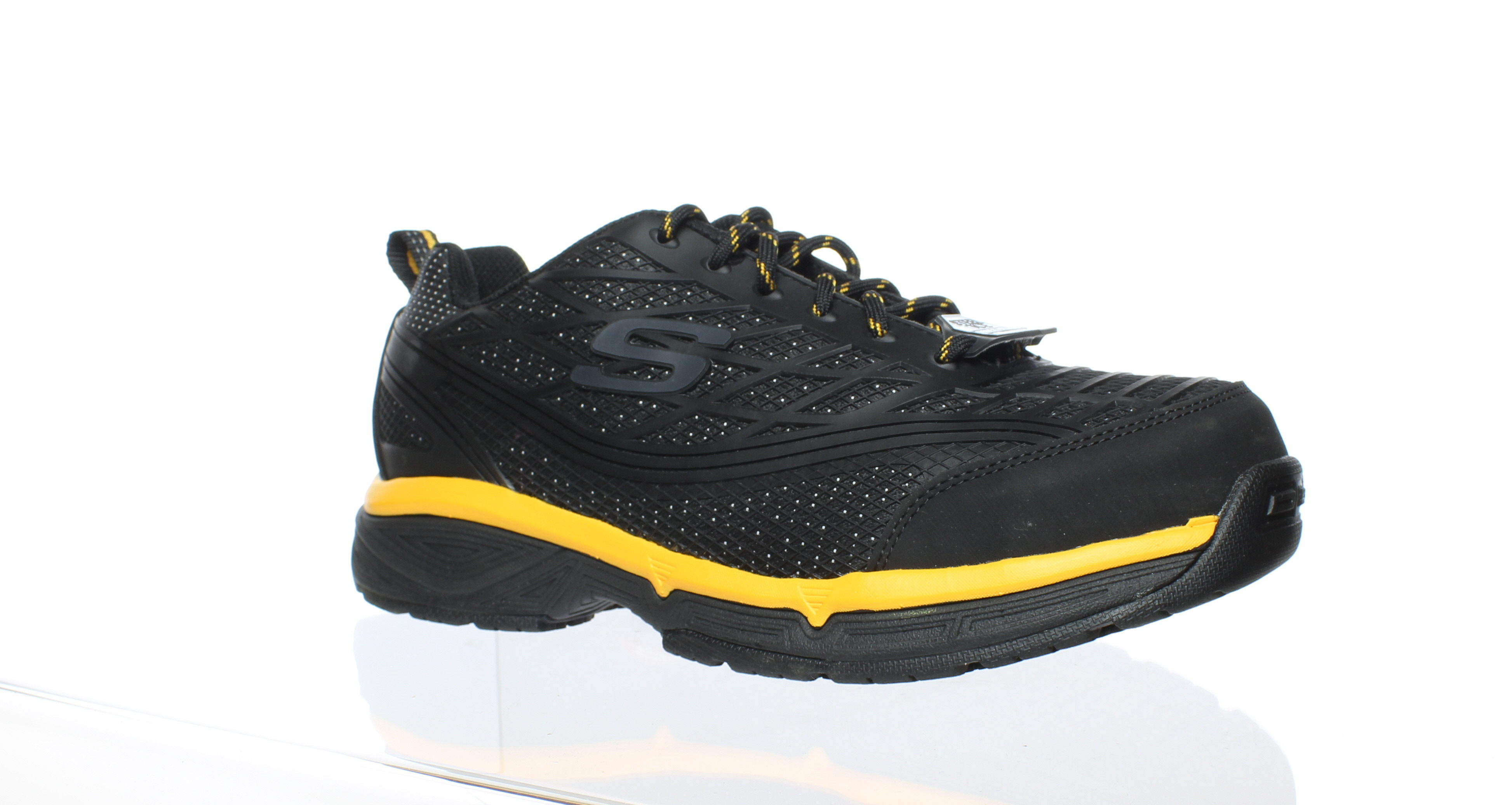 3d75a4cdeb01 Skechers Mens Black Yellow Size 9.5 889110542668