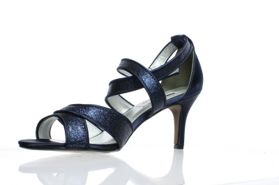 8a532e06a4ec Dyeables Womens Amber Navy Glitter Ankle Strap Heels Size 8.5 (C