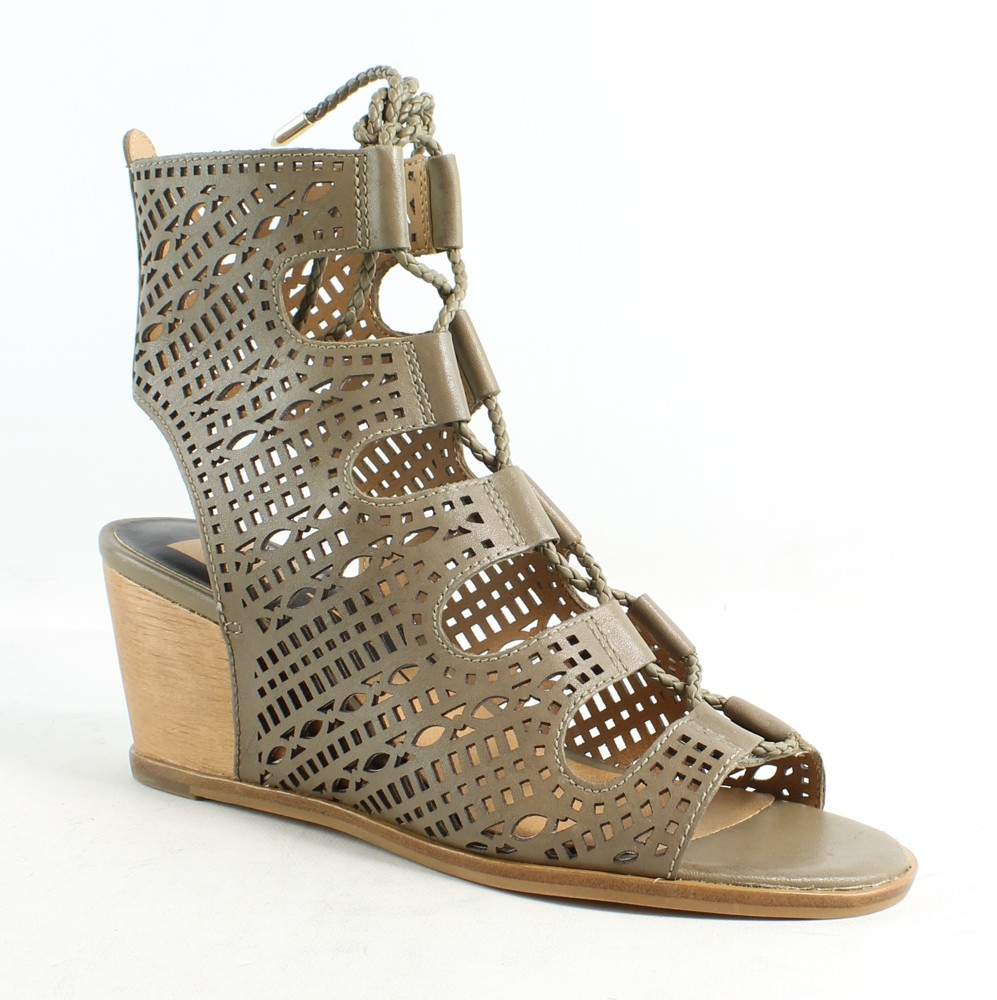 b71841df6ecf Dolce Vita Womens Lamont Olive Leather Sandals Size 6 190495104649 ...