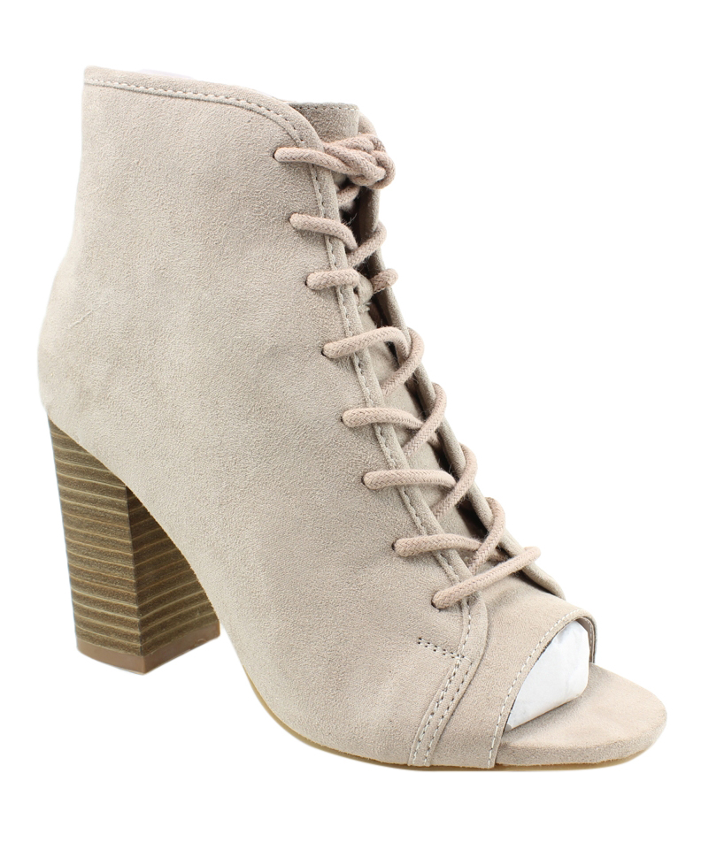 39958a0ba Madden Girl Womens Ryttee Taupe Fabric Fashion Boots Size 8.5 ...