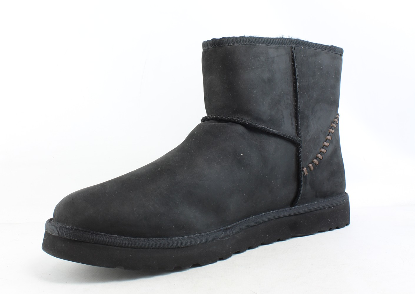 4c70ab39984 Details about UGG Mens Classic Mini Deco Black Snow Boots Size 17