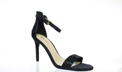 4a4f25459e0 Details about New Nine West Womens Mana Black Jacquard Ankle Strap Heels  Size 7.5. Be the ...