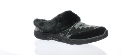 34e42d995b32 Skechers Womens Higher Level Black Mule Slippers Size 9 190872922514 ...