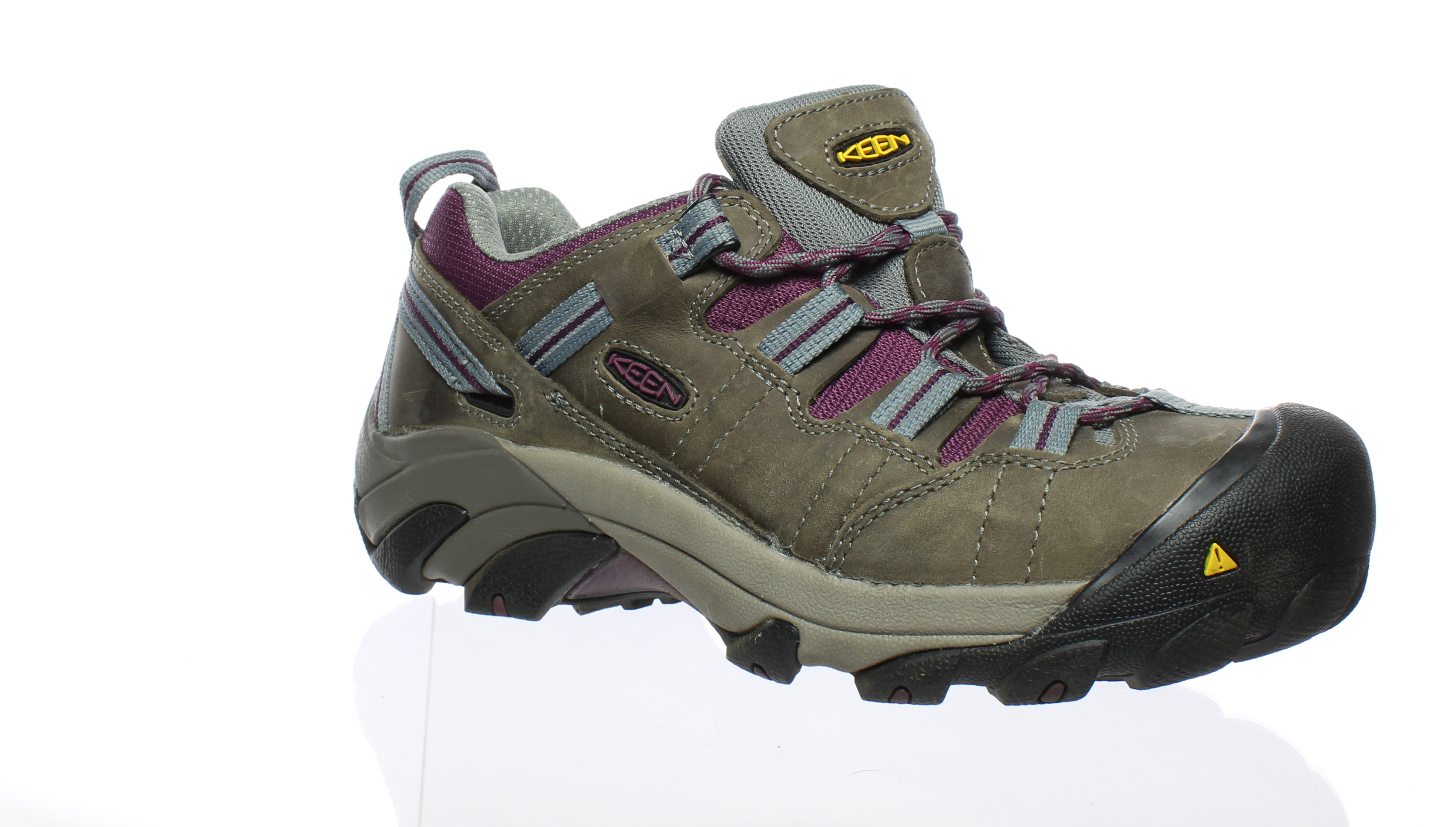 KEEN femmes  Detroit Low Soft Toe-W Monument/Amaranth Hiking  Chaussures