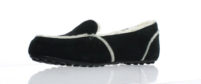 51206015ffb7 UGG Womens Hailey Black Moccasin Slippers Size 9 (156310 ...