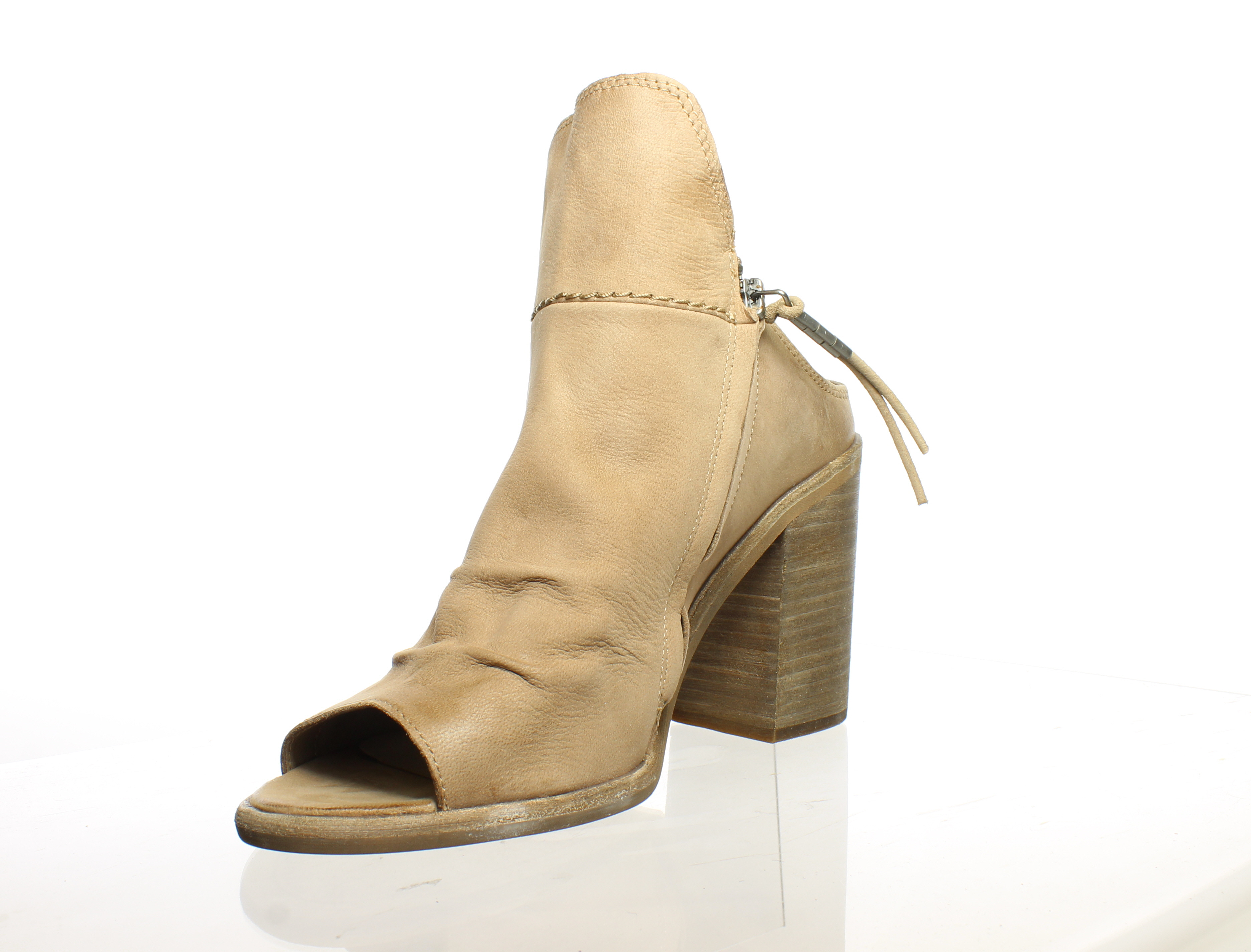 0ee4db7709dd Dolce Vita Womens Lennox Light Taupe Open Toe Booties Size 8.5 ...