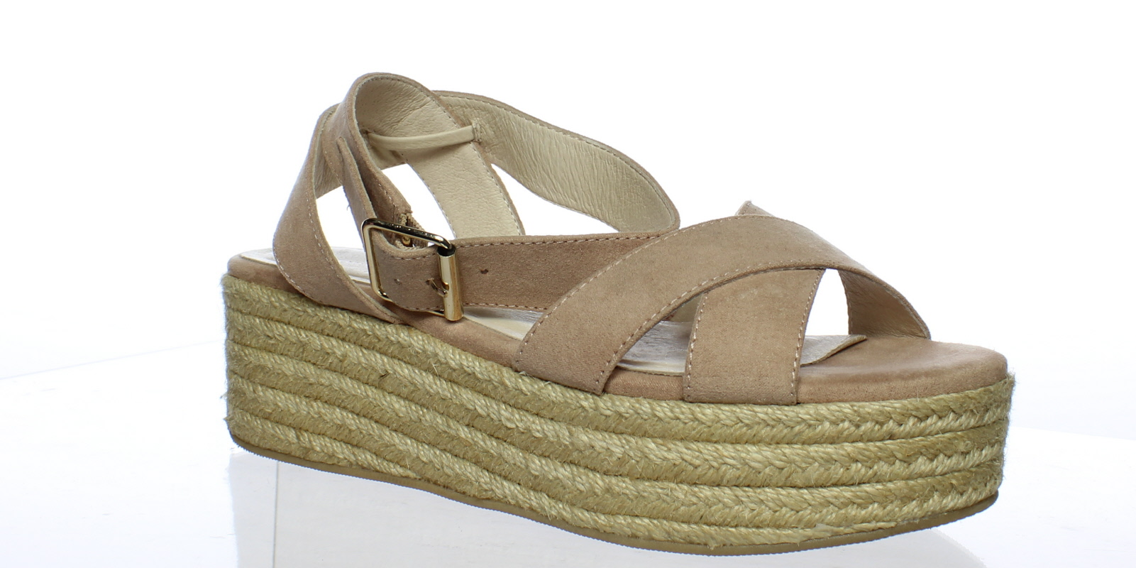2cba13a995ca Chinese Laundry Womens Zala Dark Nude Suede Espadrilles Size 7 ...