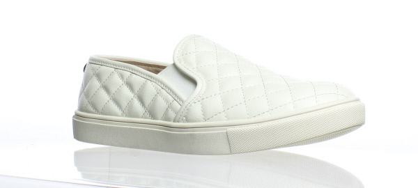 2edc339fcdc Details about Steve Madden Womens Ecentrcq White Casual Flats Size 7.5  (170310)