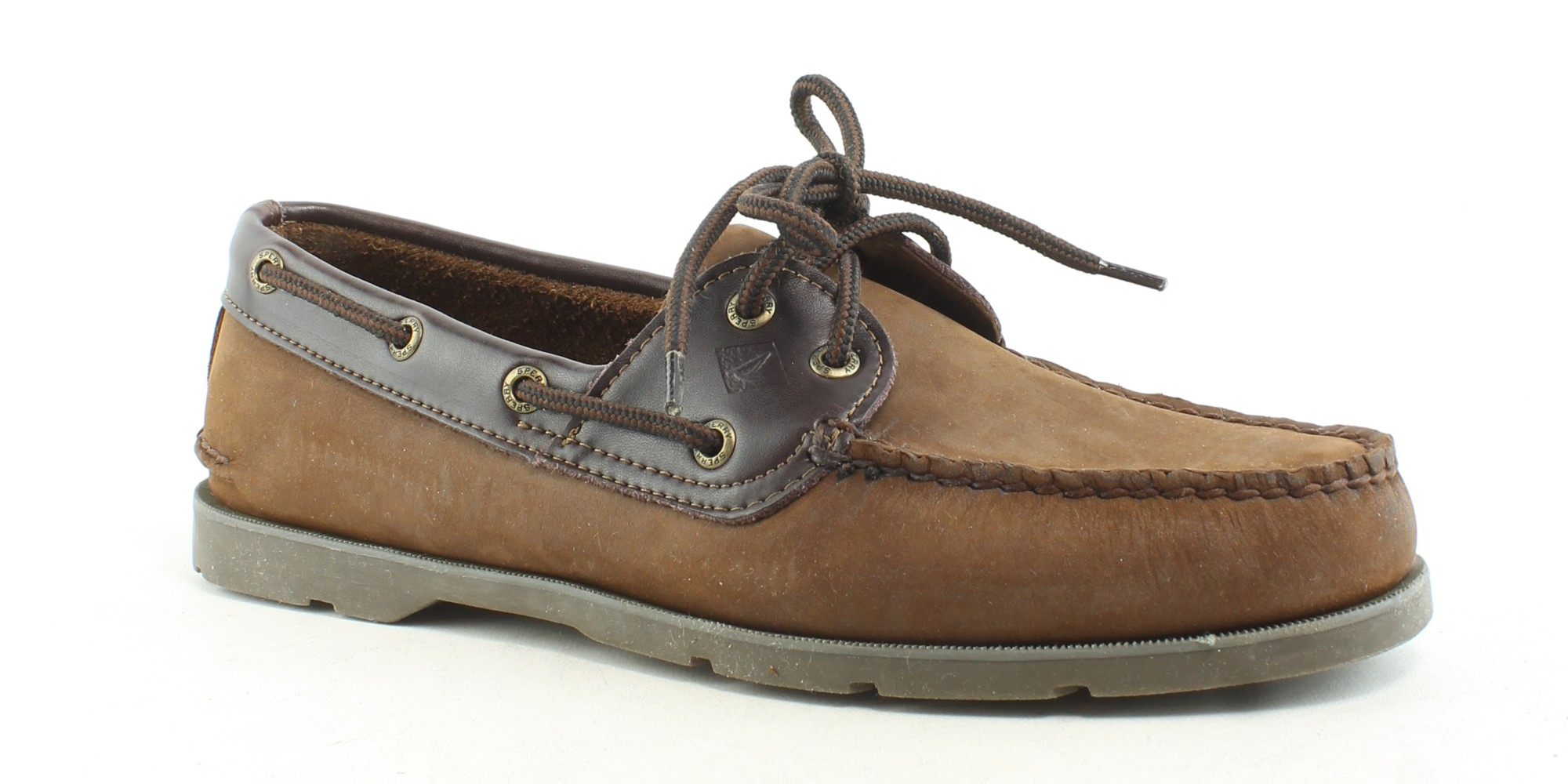fa4d5fc886a Sperry Top Sider Mens Leeward Brown Buc Brown Boat Shoes Size 9.5 (E ...
