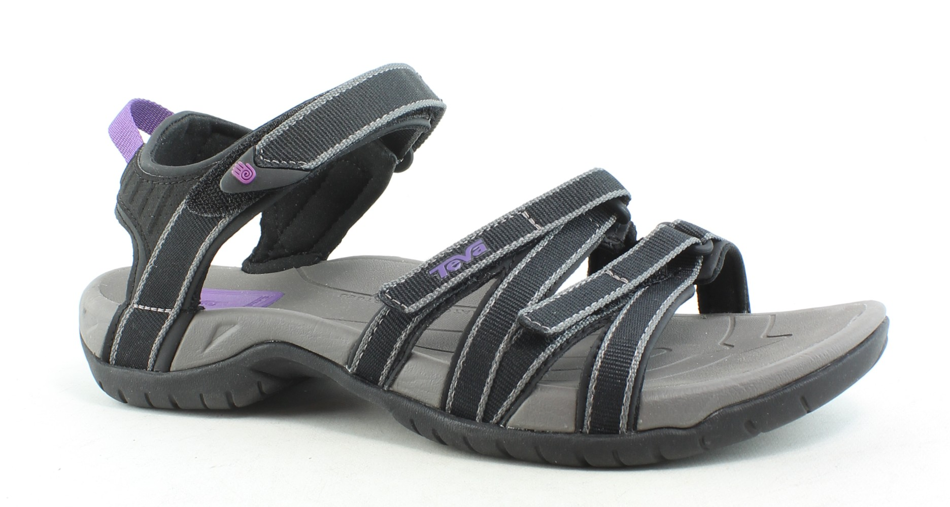 8ac8a02c6fc2f Details about Teva Womens Tirra Black Grey Sandals Size 10 (171515)