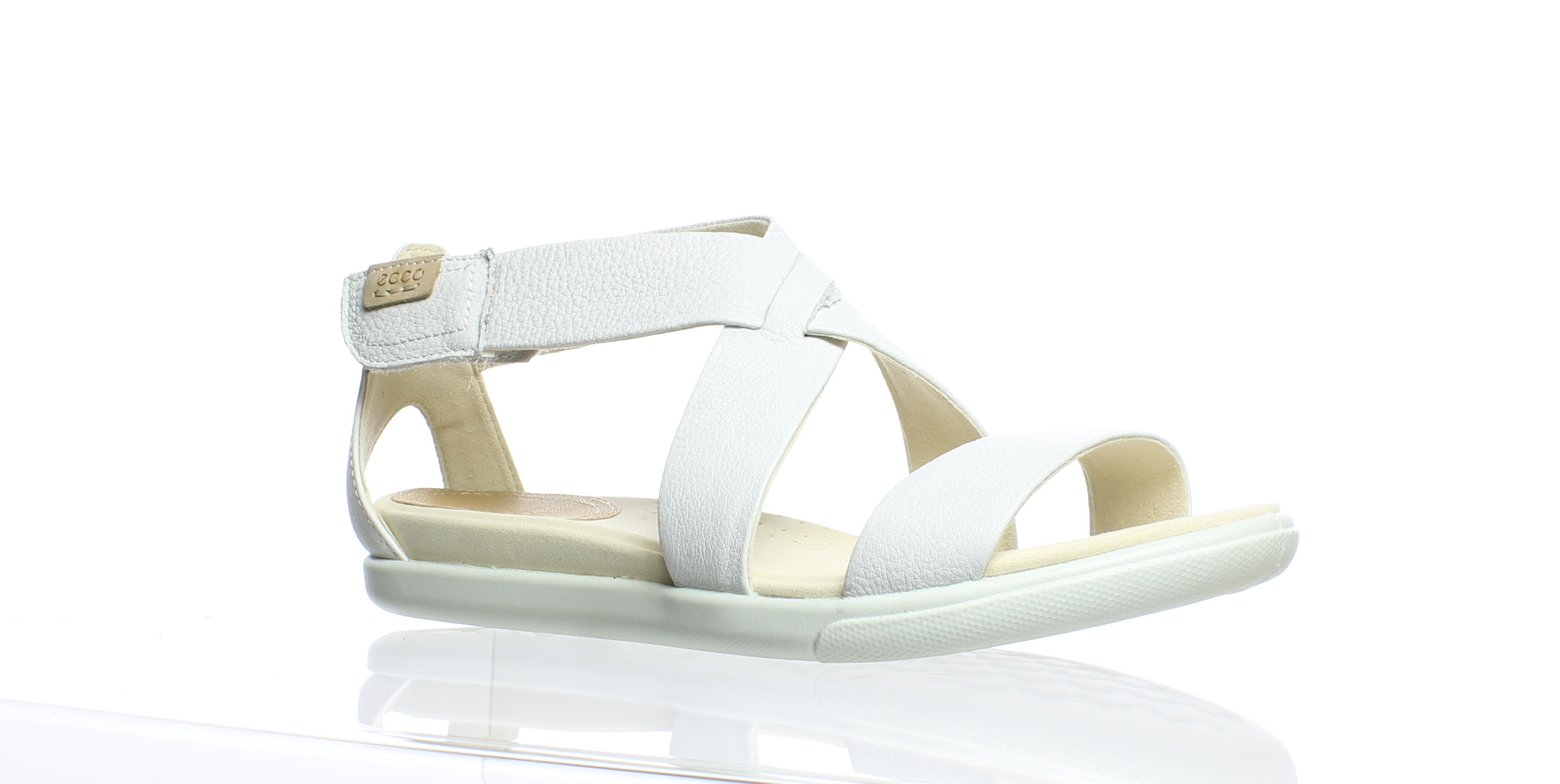 b65051118136 ECCO Womens Damara White Casual Sandals EUR 39 (171776) 809704410753 ...