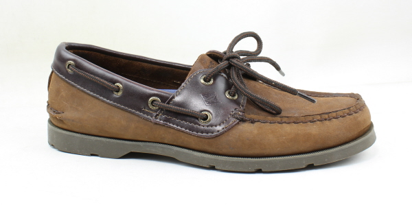 0346cb7e93de0 Details about Sperry Top Sider Mens Leeward Brown Buc Brown Boat Shoes Size  8 (171894)