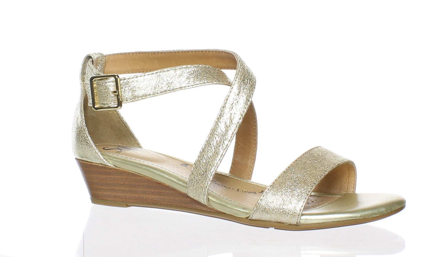 eb8411c86f Sofft WOMENS Innis Gold Ankle Strap Heels Size 7.5 (C,D,W) (172341)