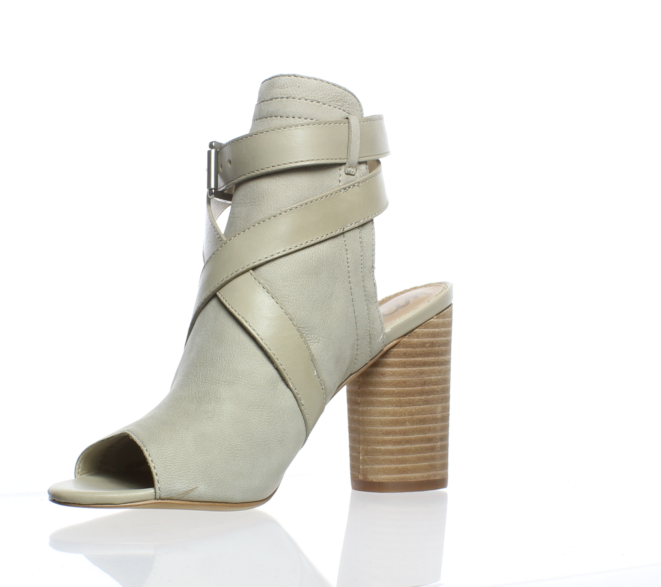 583e71a51 Sam Edelman WOMENS Vermont Taupe Ankle Strap Heels Size 5.5 (183520)