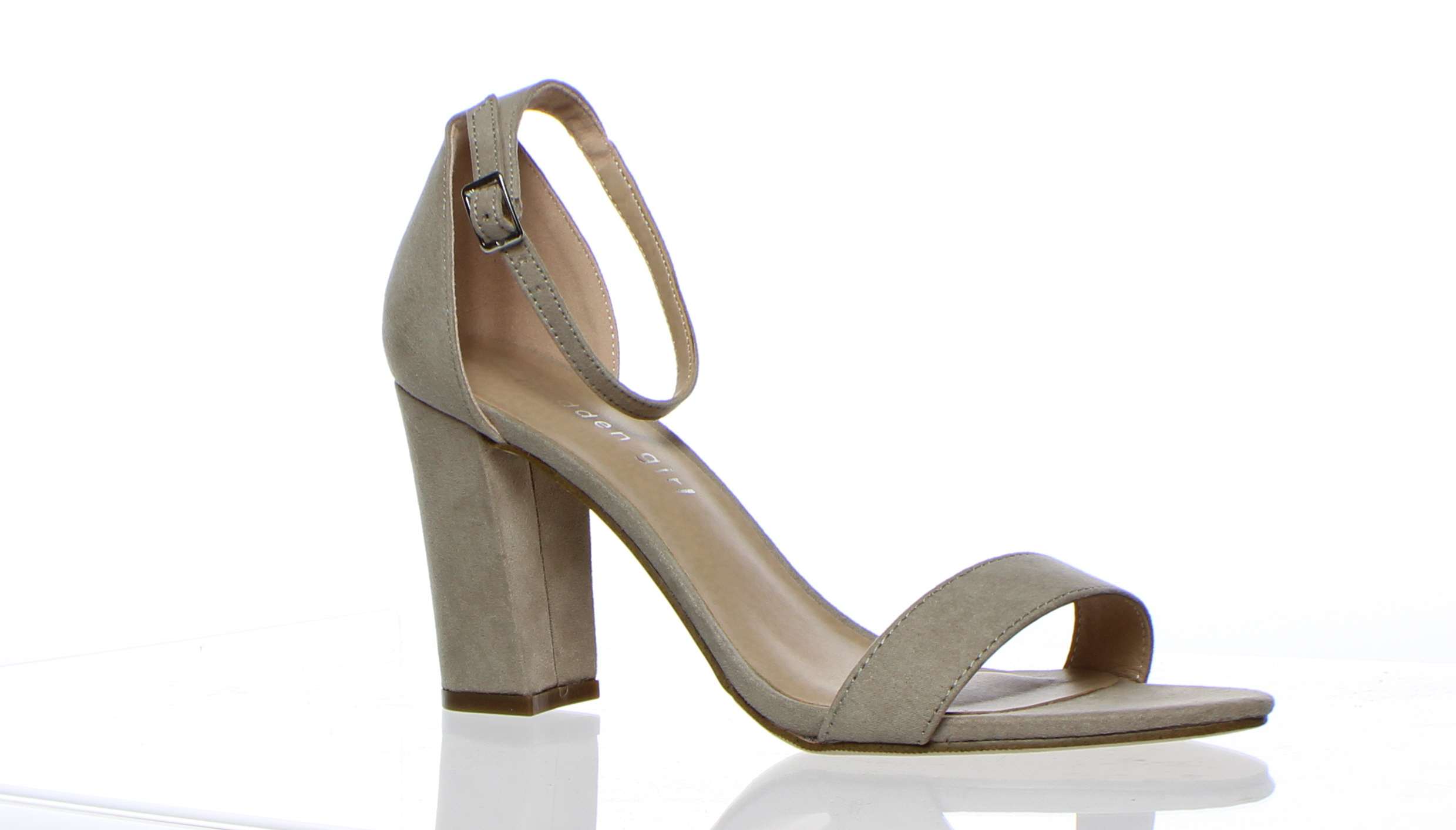 68ff1c243fc7 Details about Madden Girl Womens Beella Tan Ankle Strap Heels Size 8  (183975)