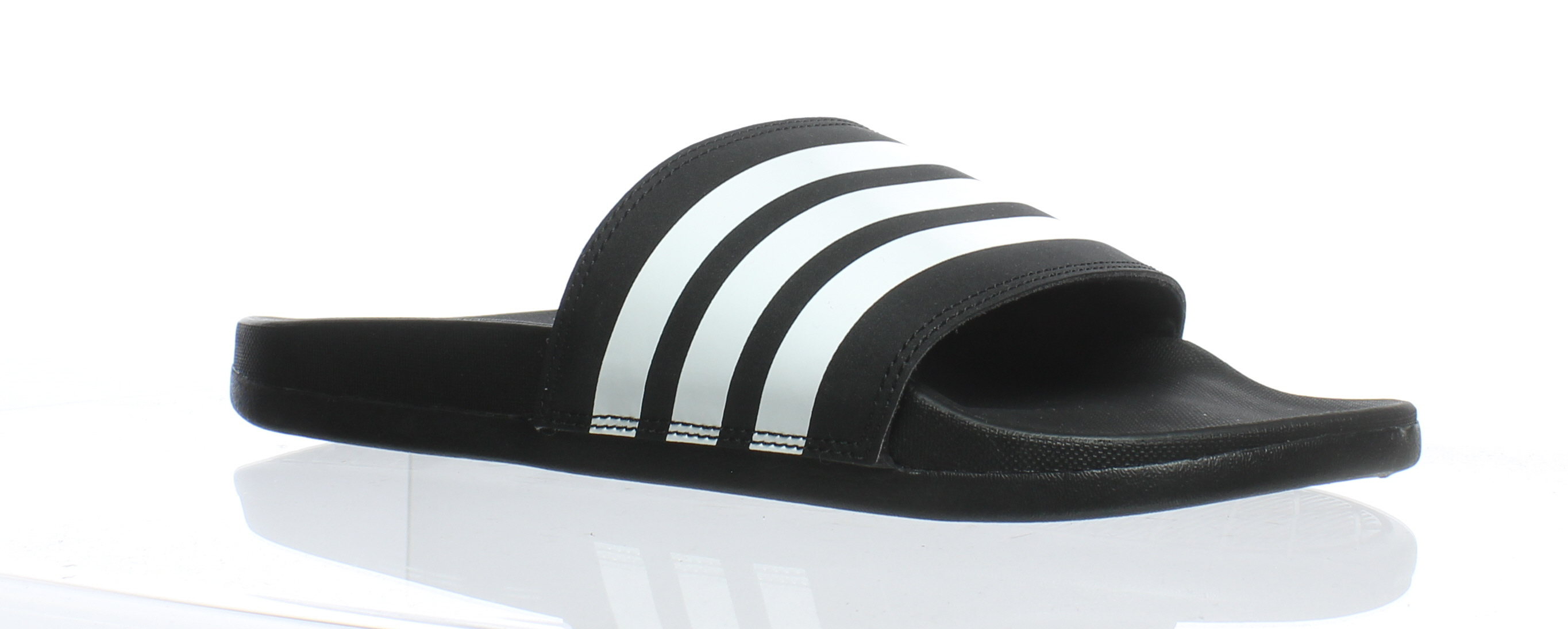 3fb3330cd6bfe Details about Adidas Womens Adilette Comfort Black Slides Size 8 (185440)