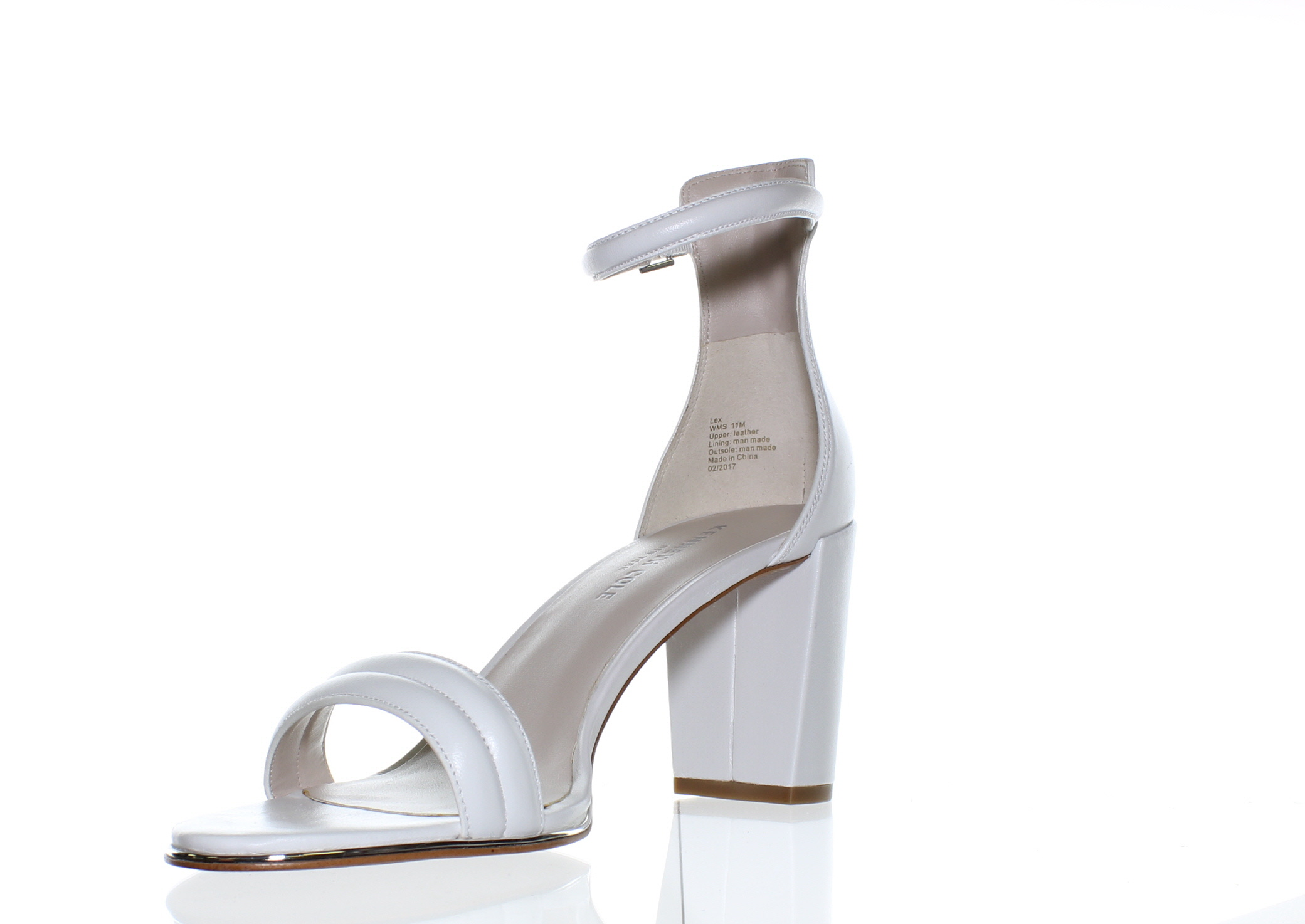 a37236001c8 Kenneth Cole Womens Kl05494le White Ankle Strap Heels Size 11 (1867 ...