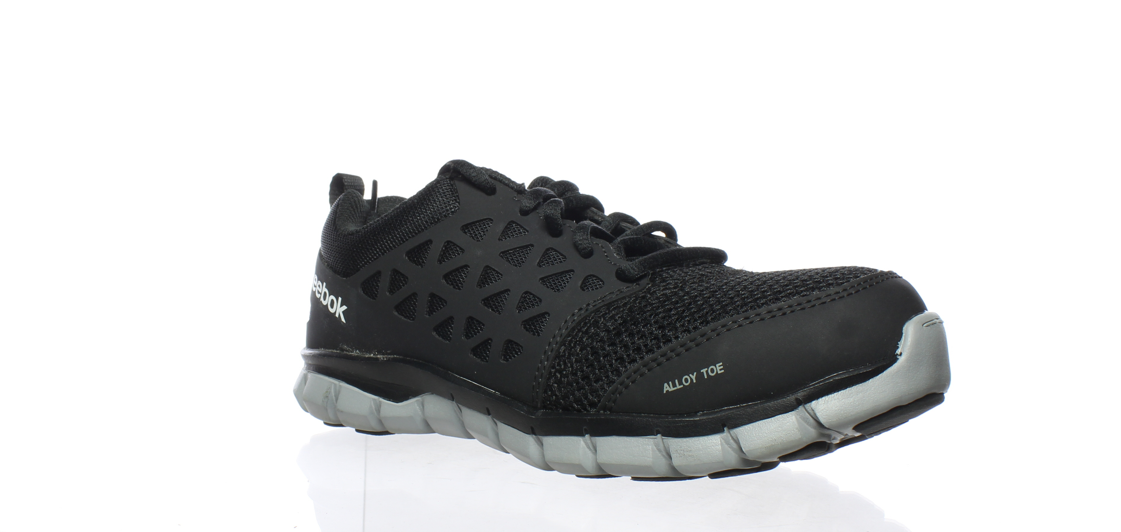 b7f435e83ca7 Details about Reebok Womens Sublite Cushion Work Black Safety Shoes Size  6.5 (187461)