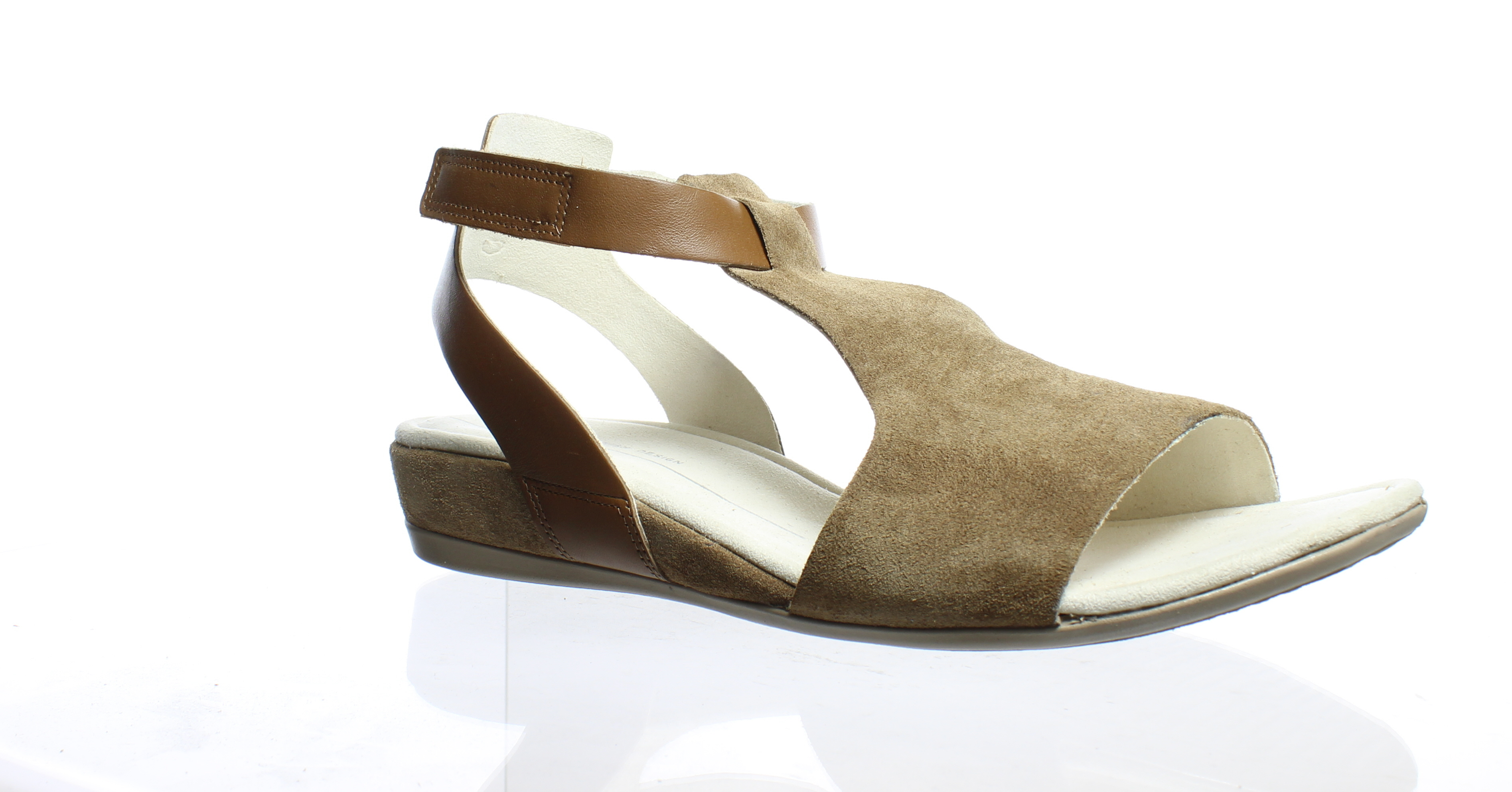 ca3d9a03cc8 ECCO Womens Touch 25 Camel Camel Ankle Strap Flats Size 9 ...