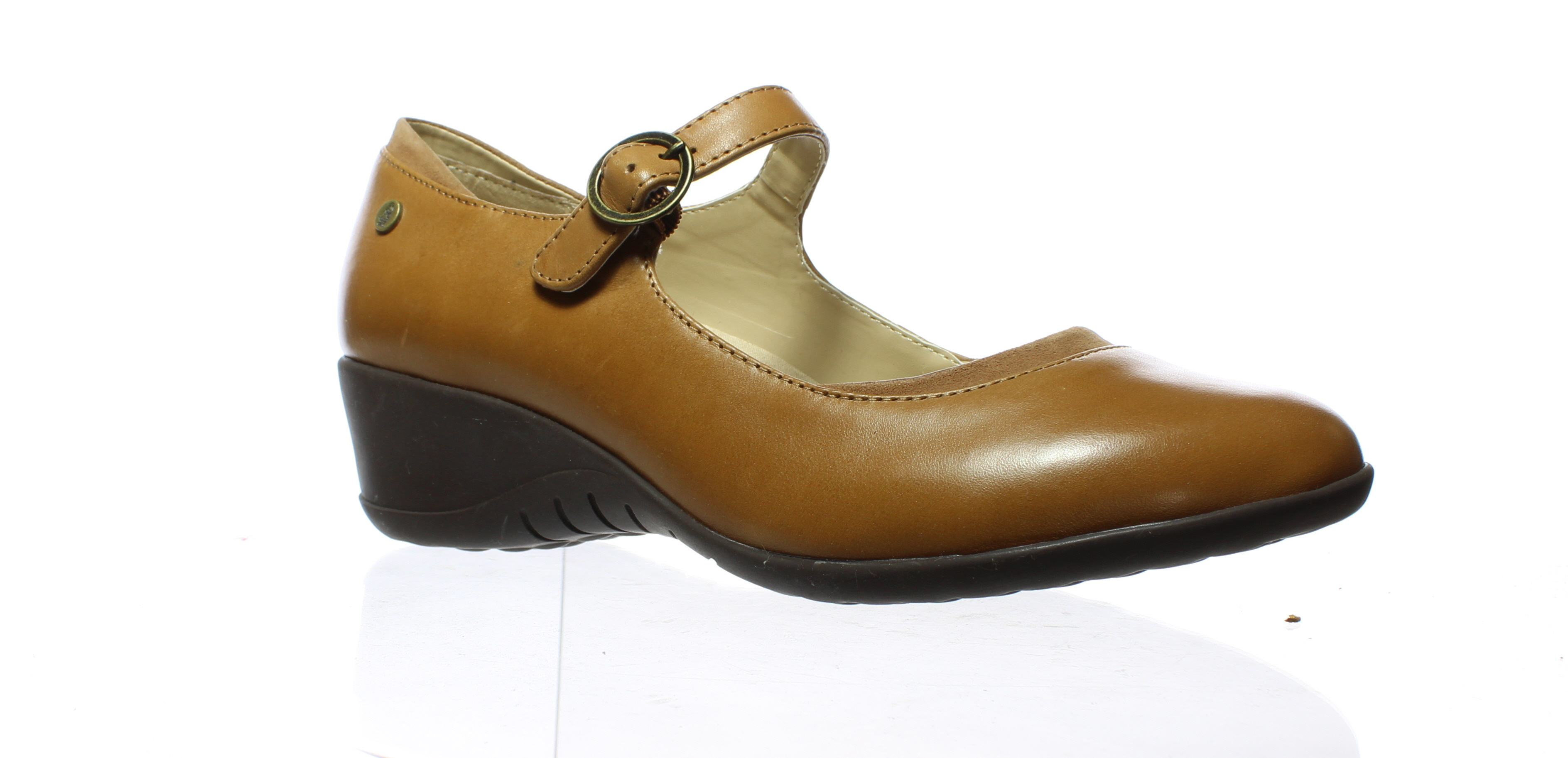 919bca22602b Hush Puppies Womens Odell Tan Leather Mary Jane Heels Size 9 (C