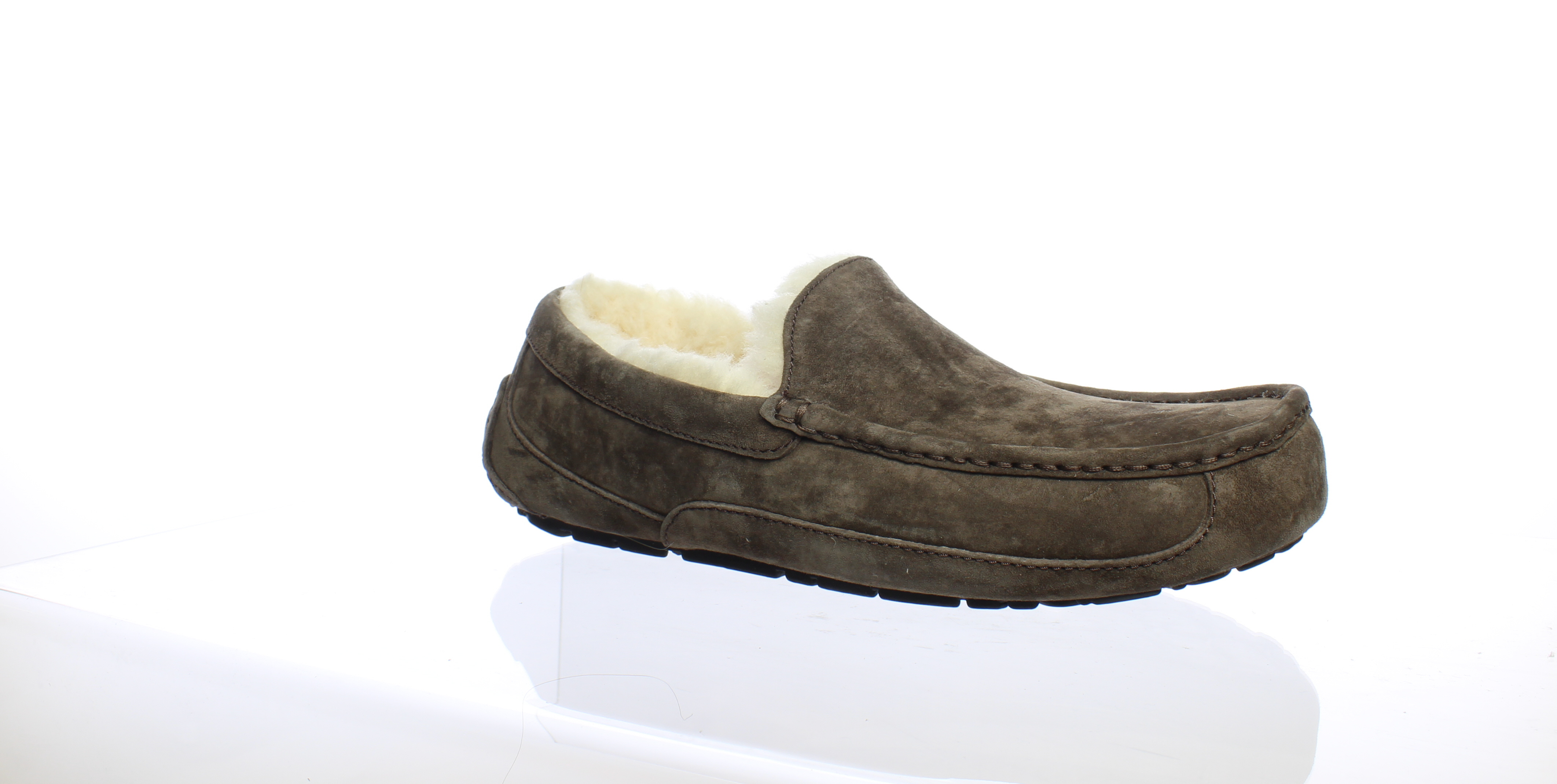 3346594c526 Details about UGG Mens Ascot Espresso Moccasin Slippers Size 10 (199000)