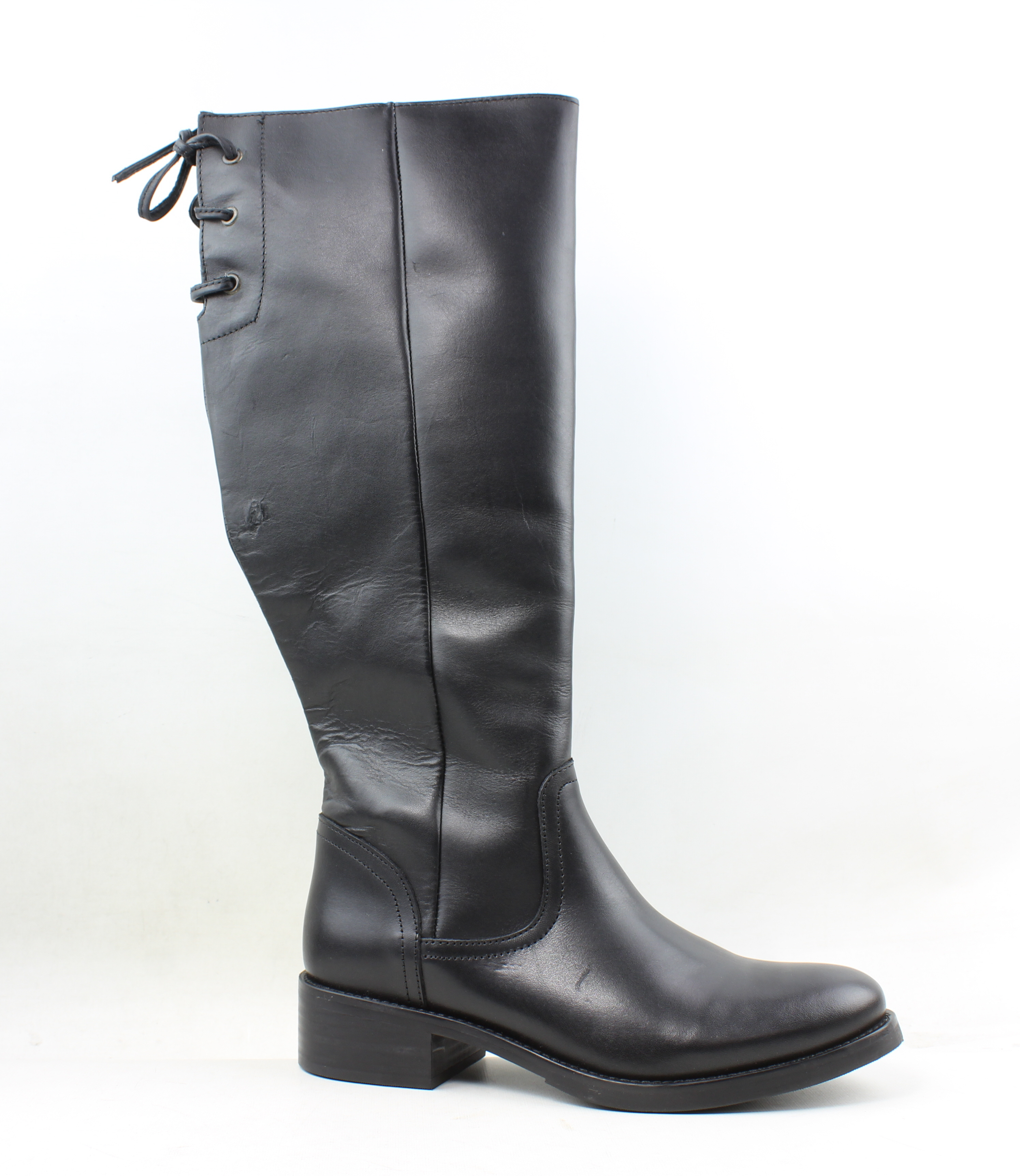 f7fff9194b6 Steve Madden Womens Lover Black Leather Riding Boots Size 8.5 ...