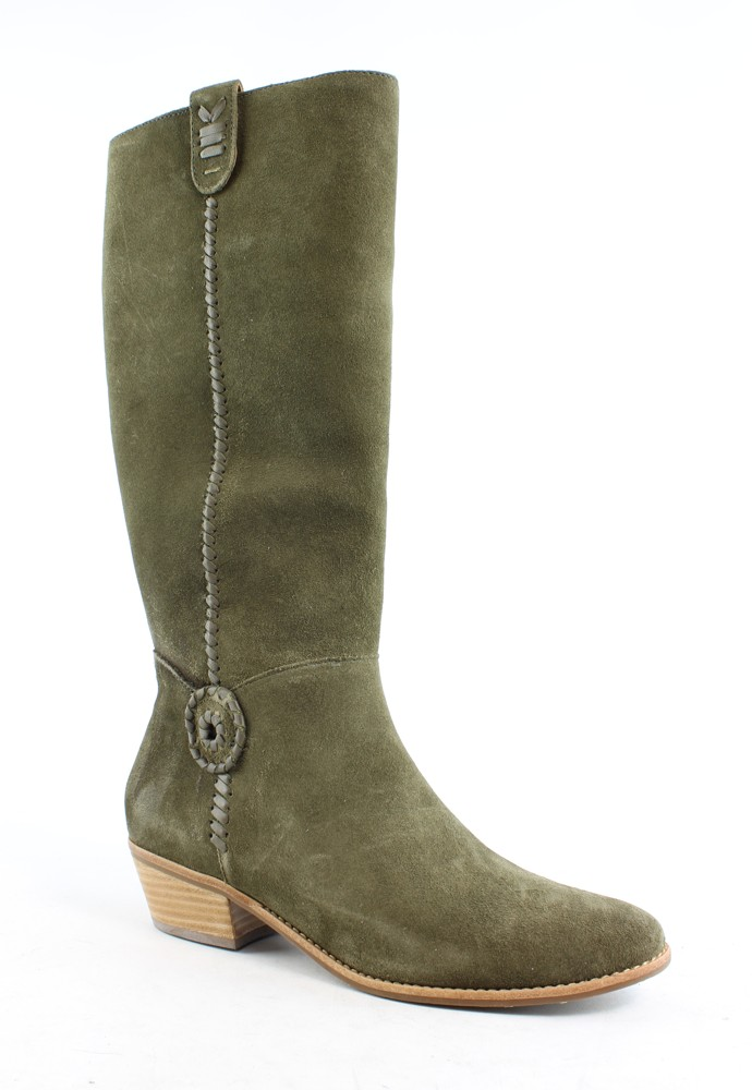 New Jack Rogers Womens Sawyer Olive Suede Riding, Equestrian Boots Size 8