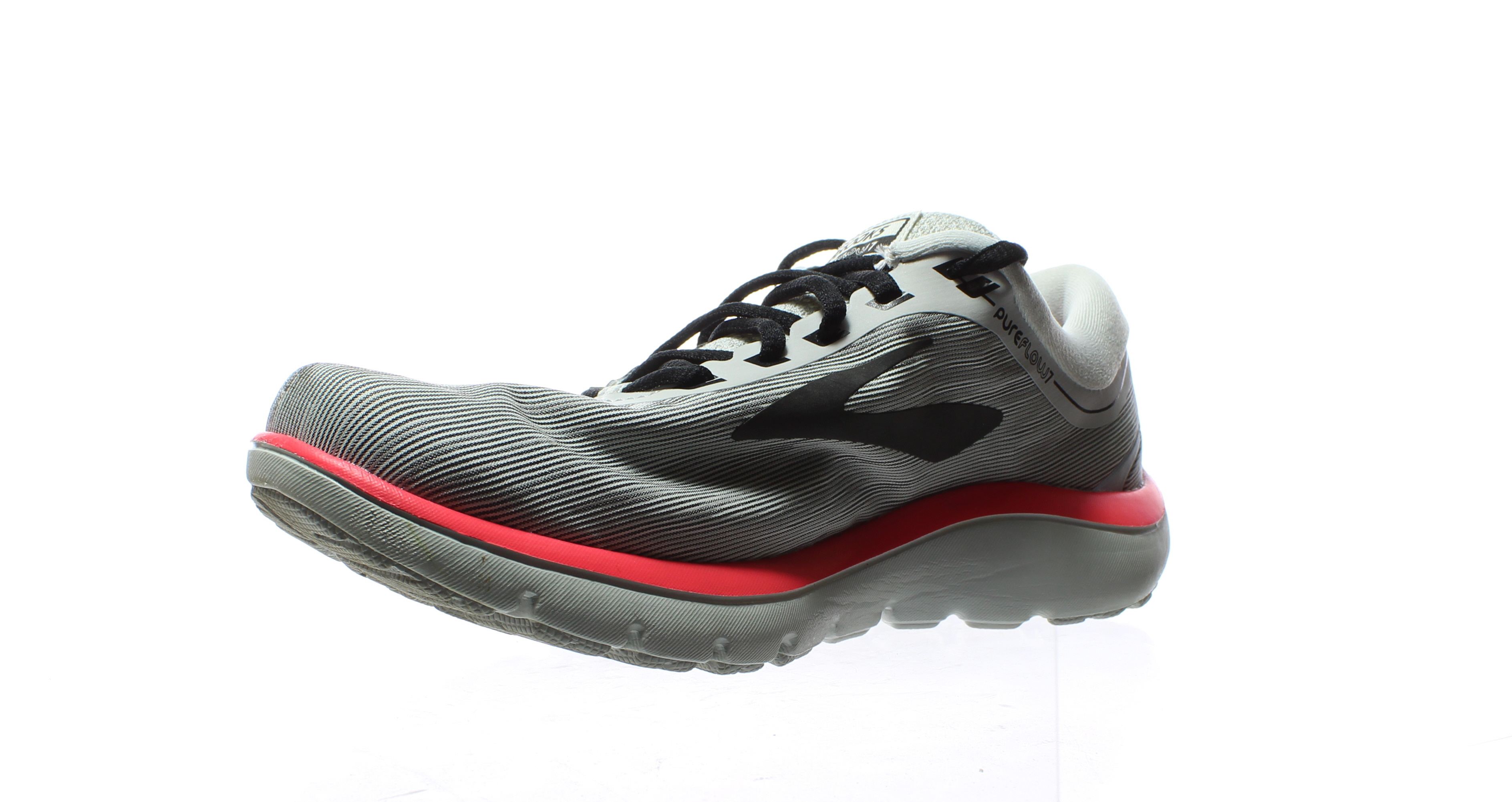 88db50cd743 Brooks Womens Pureflow 7 Grey Black Pink Running Shoes Size 8 ...