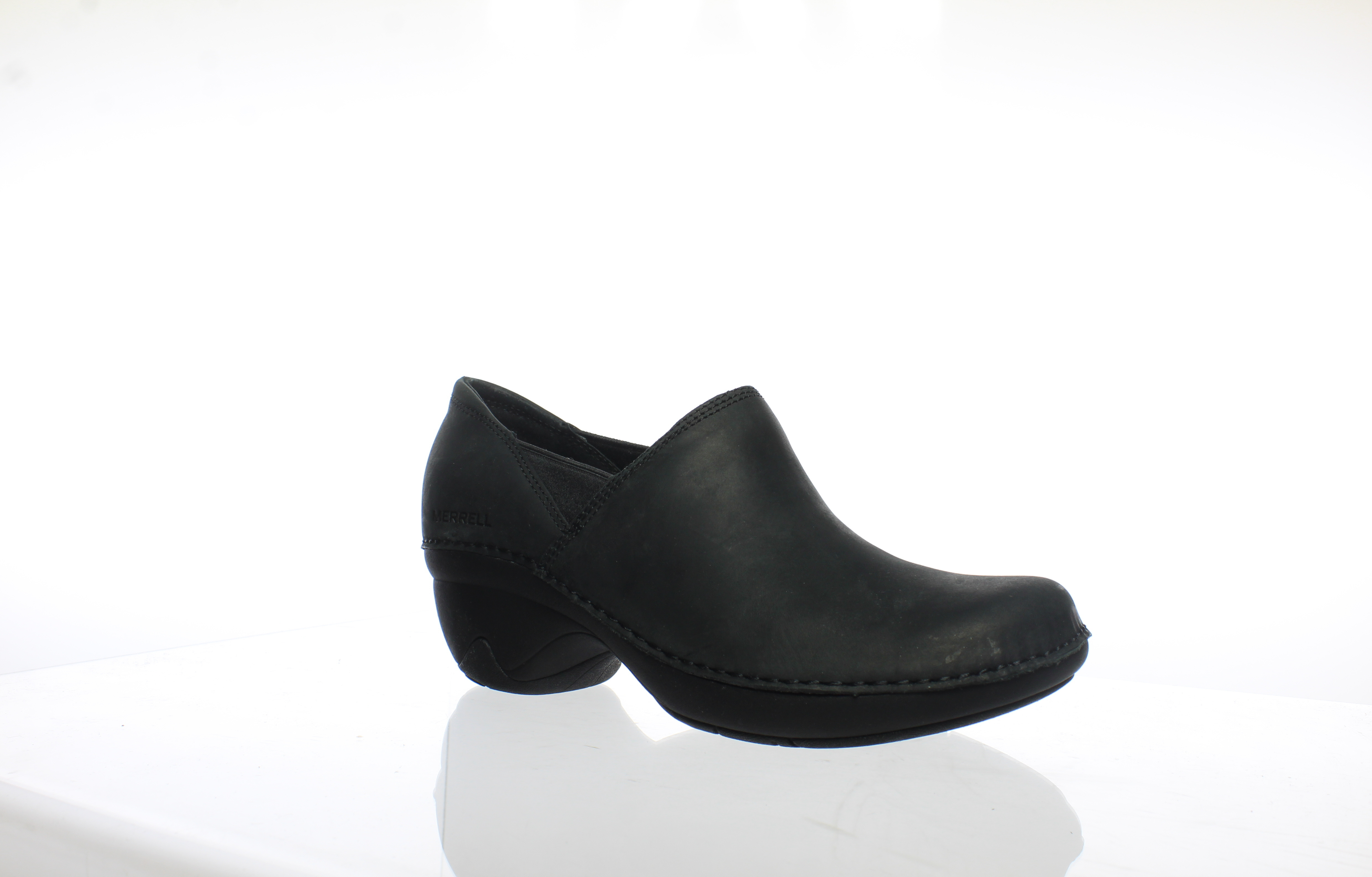 19be9747 Details about Merrell Womens Emma Black Heeled Clogs Size 6.5 (205218)