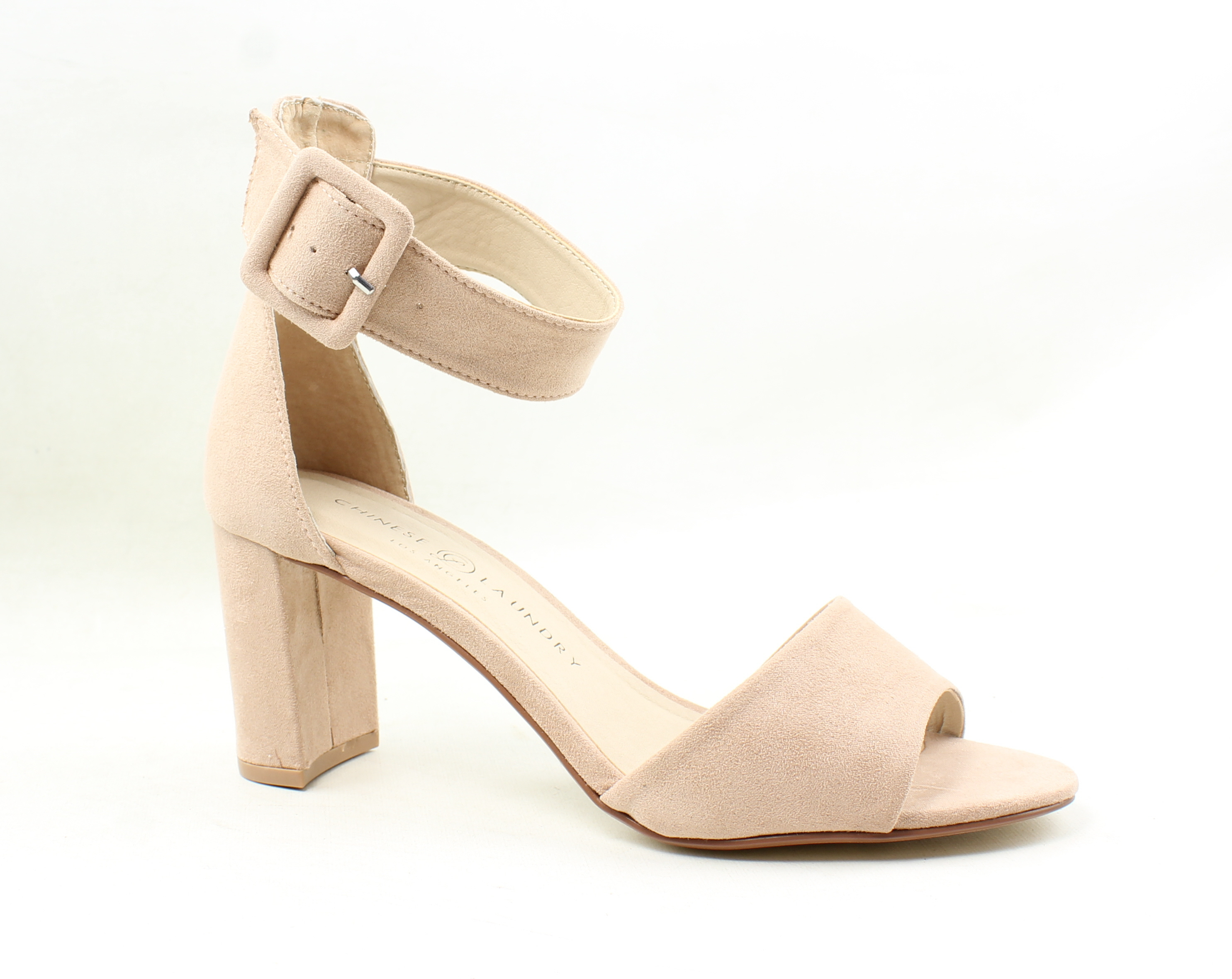 Chinese Laundry Womens Rosita Dark Nude Suede Ankle Strap