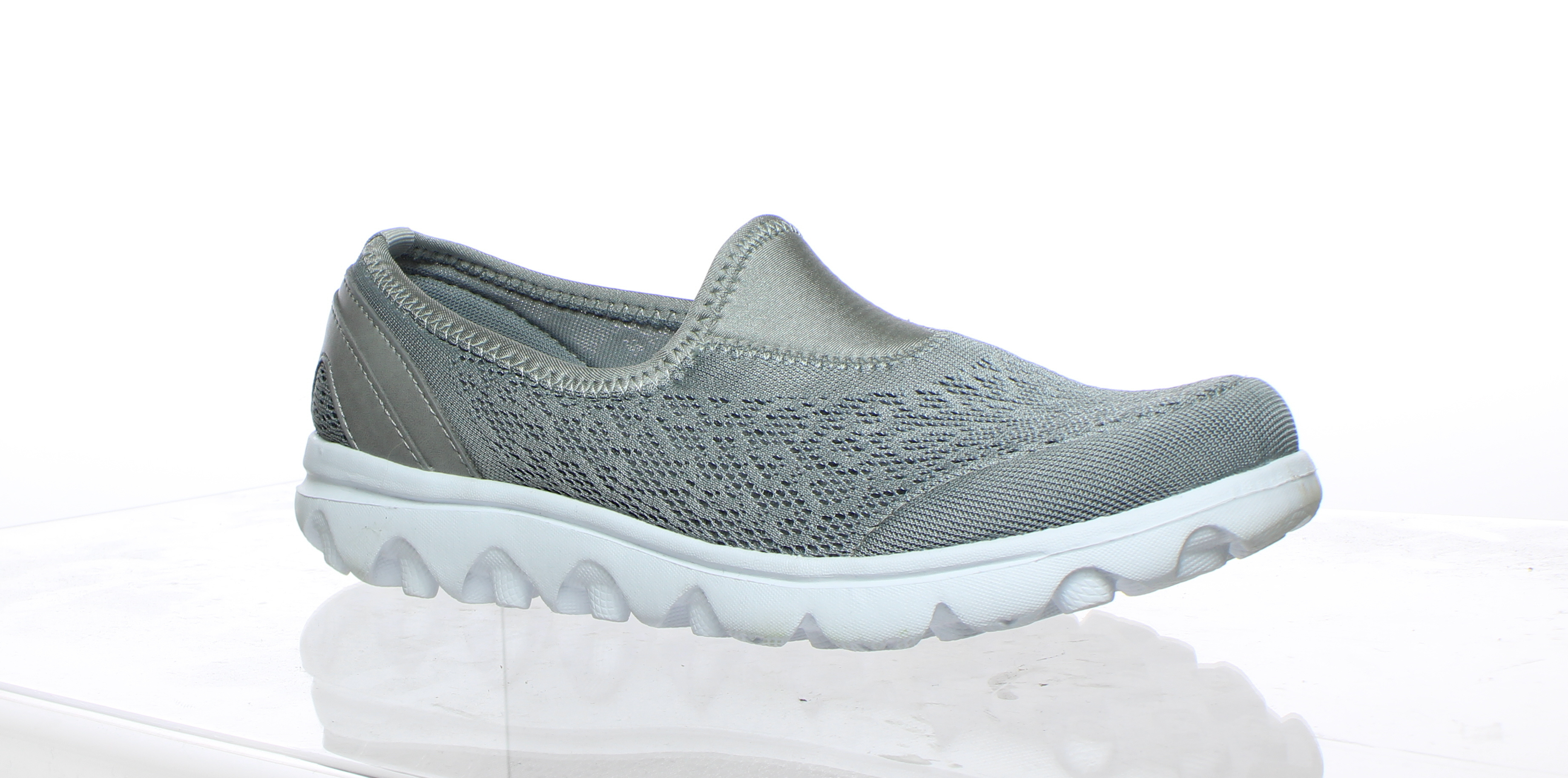 6a764cad4 Propet Womens Travelactiv Slip On Silver Walking Shoes Size 7 ...