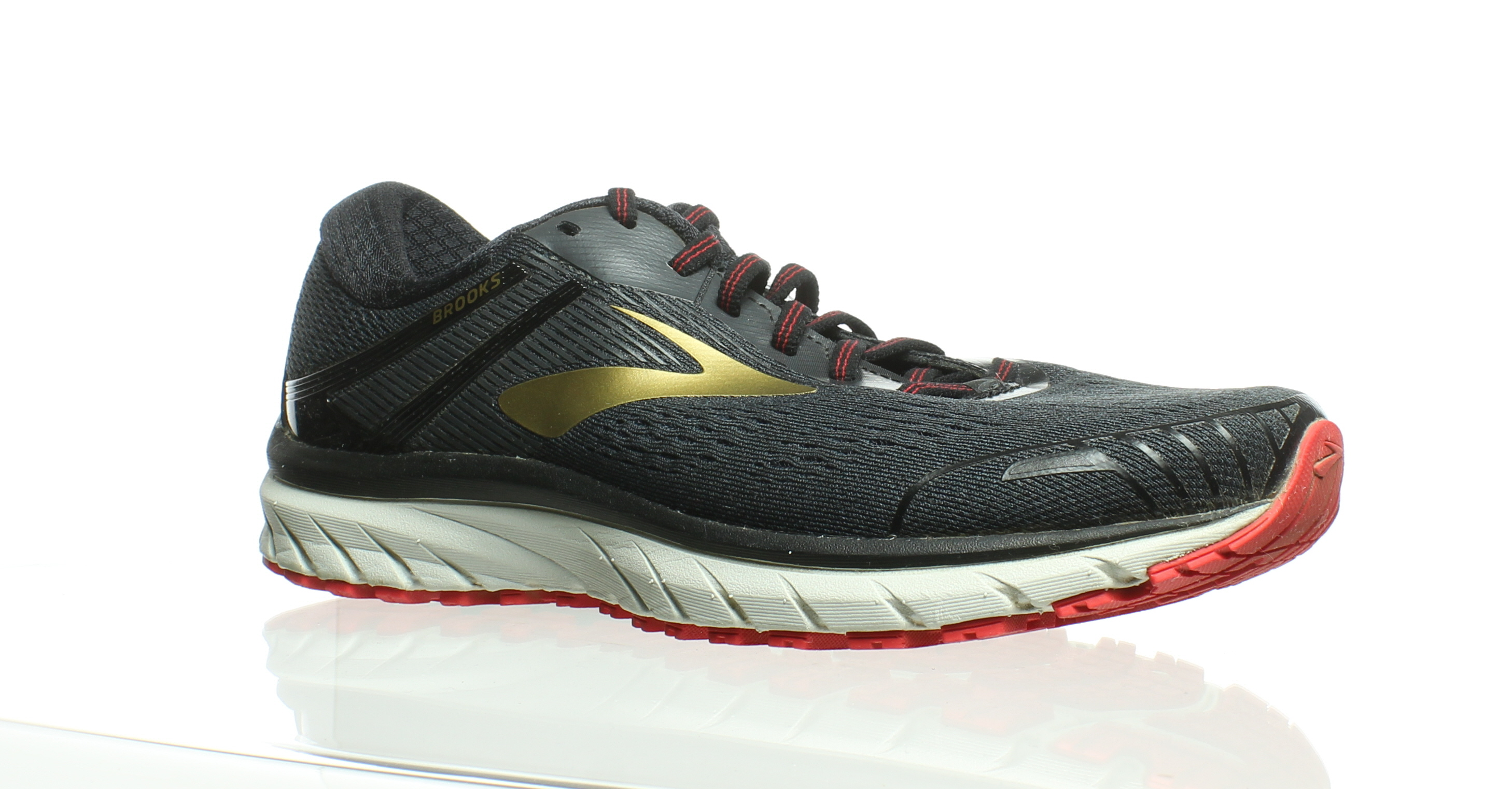 90c978d73c536 Details about Brooks Mens Adrenaline Gts 18 Black Gold Red Running Shoes  Size 7.5 (210662)