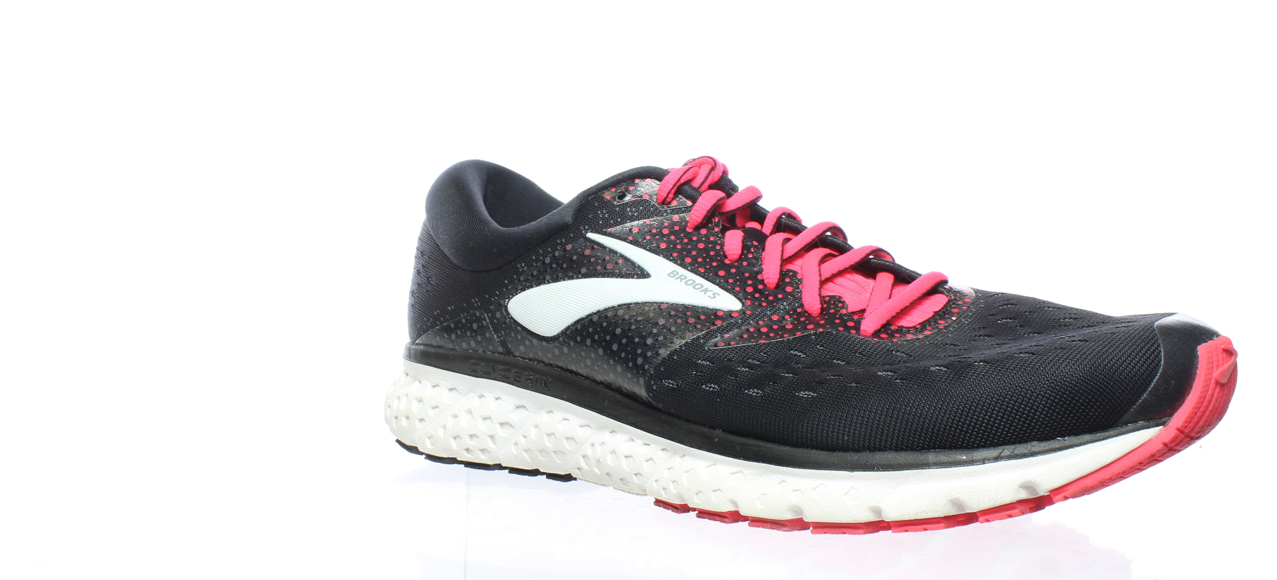 3545fc7df9d Details about Brooks Womens Glycerin 16 Black Pink Grey Running Shoes Size  12 (212517)