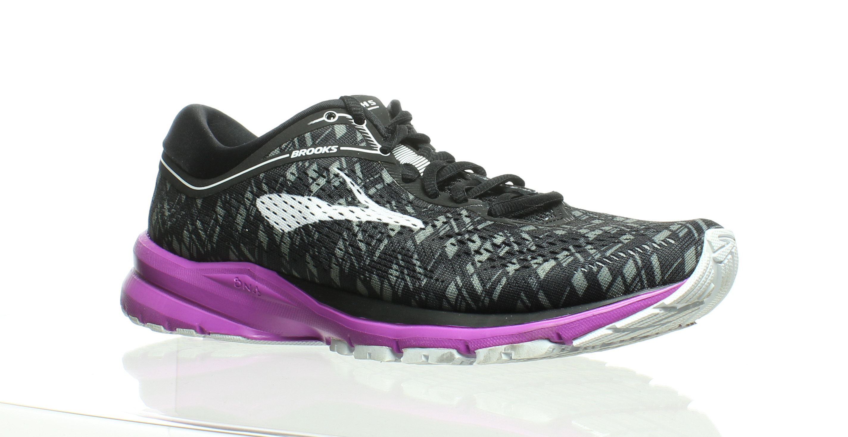 e855b2072dab4 Details about Brooks Womens Launch 5 Black Running Shoes Size 9 (212703)