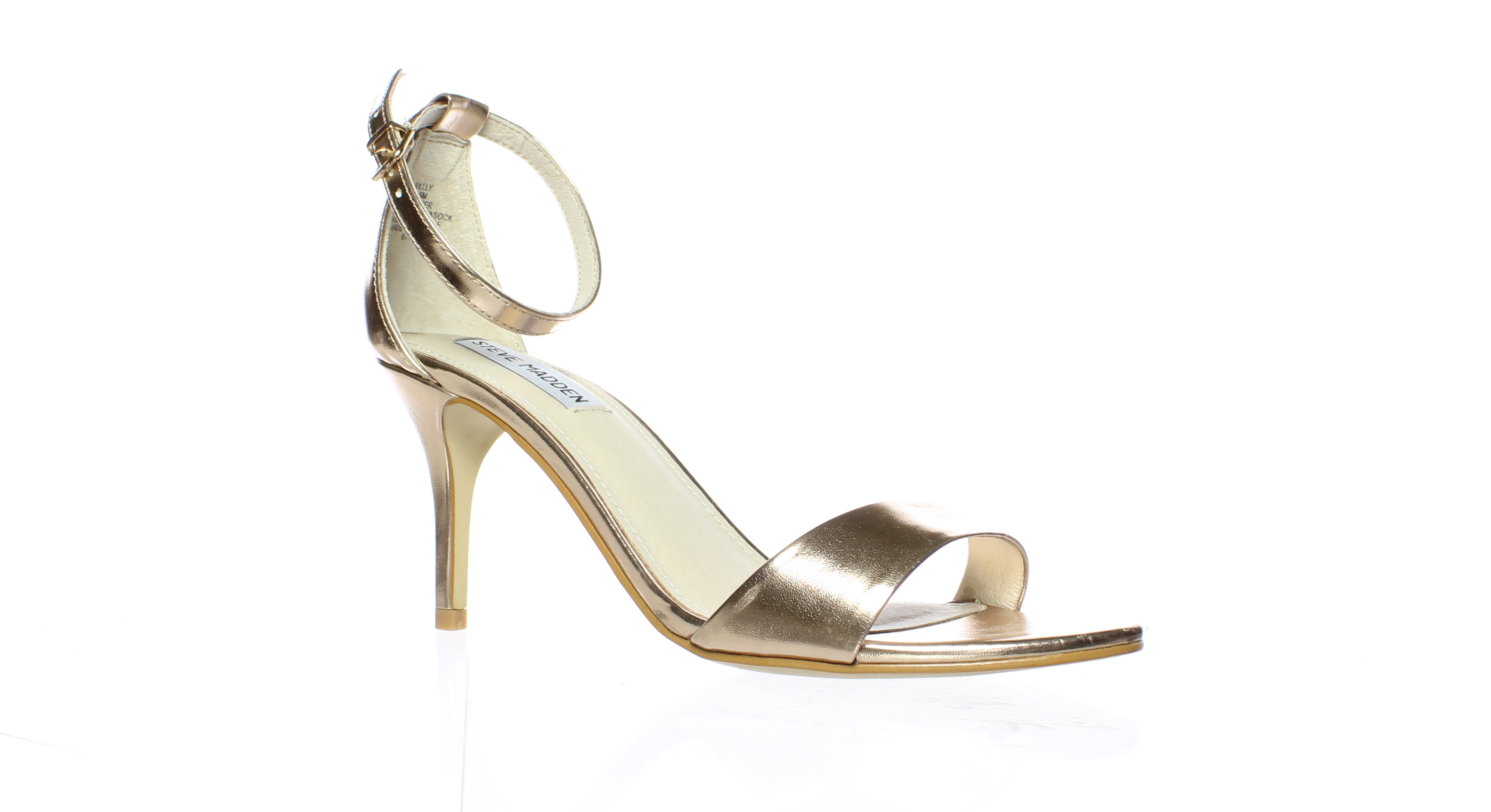34705c6d20d Details about Steve Madden Womens Sillly Rose Gold Ankle Strap Heels Size  8.5 (214897)