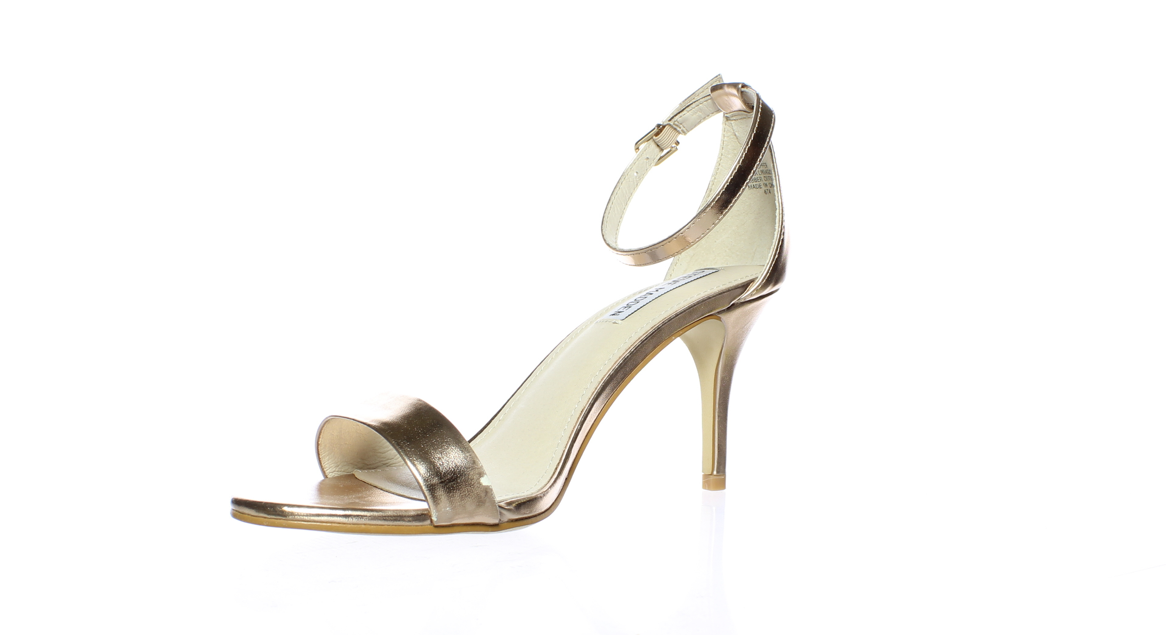 ccca0edc588 Steve Madden WOMENS Sillly Rose Gold Ankle Strap Heels Size 8.5 (214897)