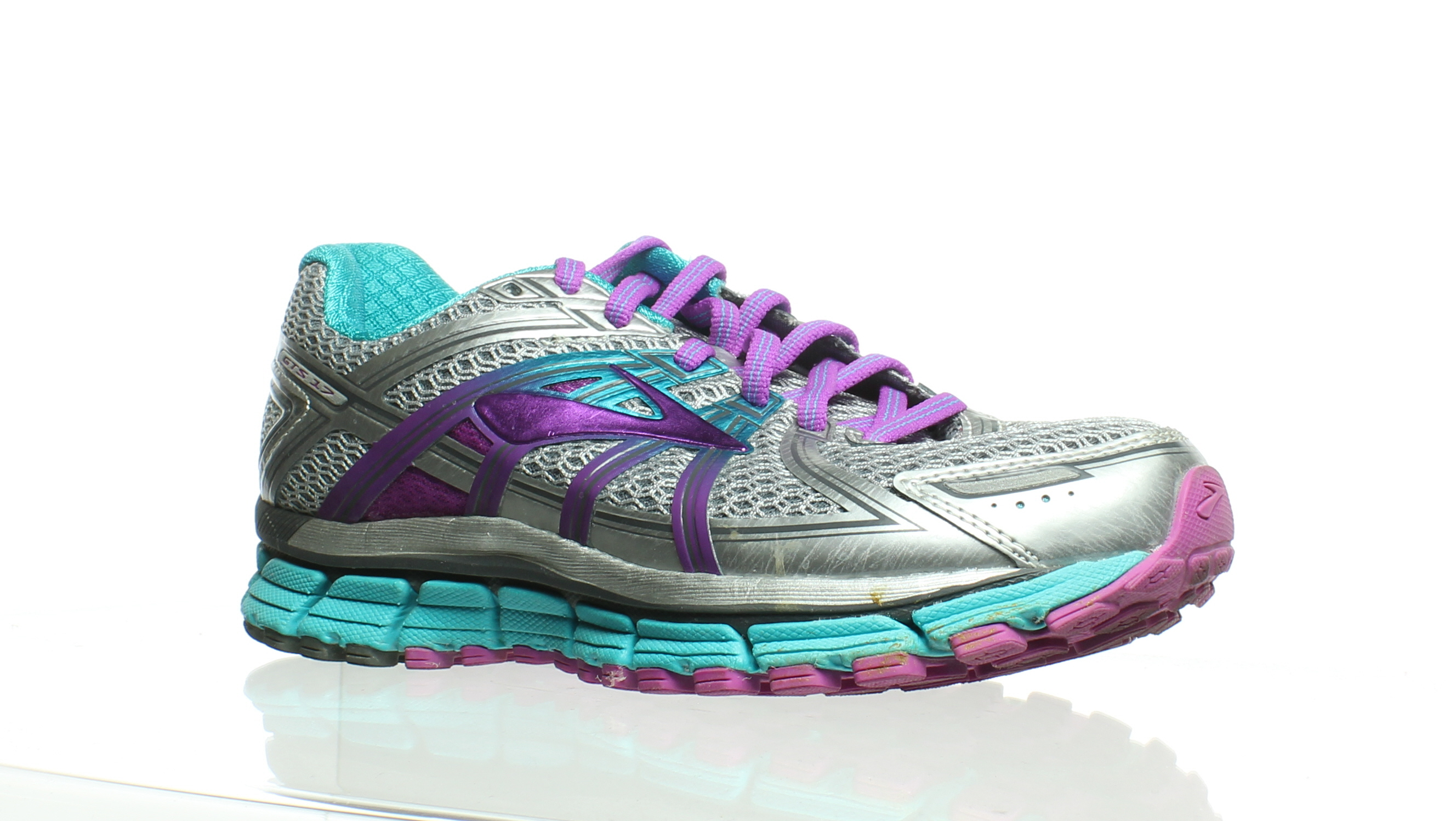 90eecc5415d9c Details about Brooks Womens Adrenaline Gts 17 Silver Running Shoes Size 6  (216705)