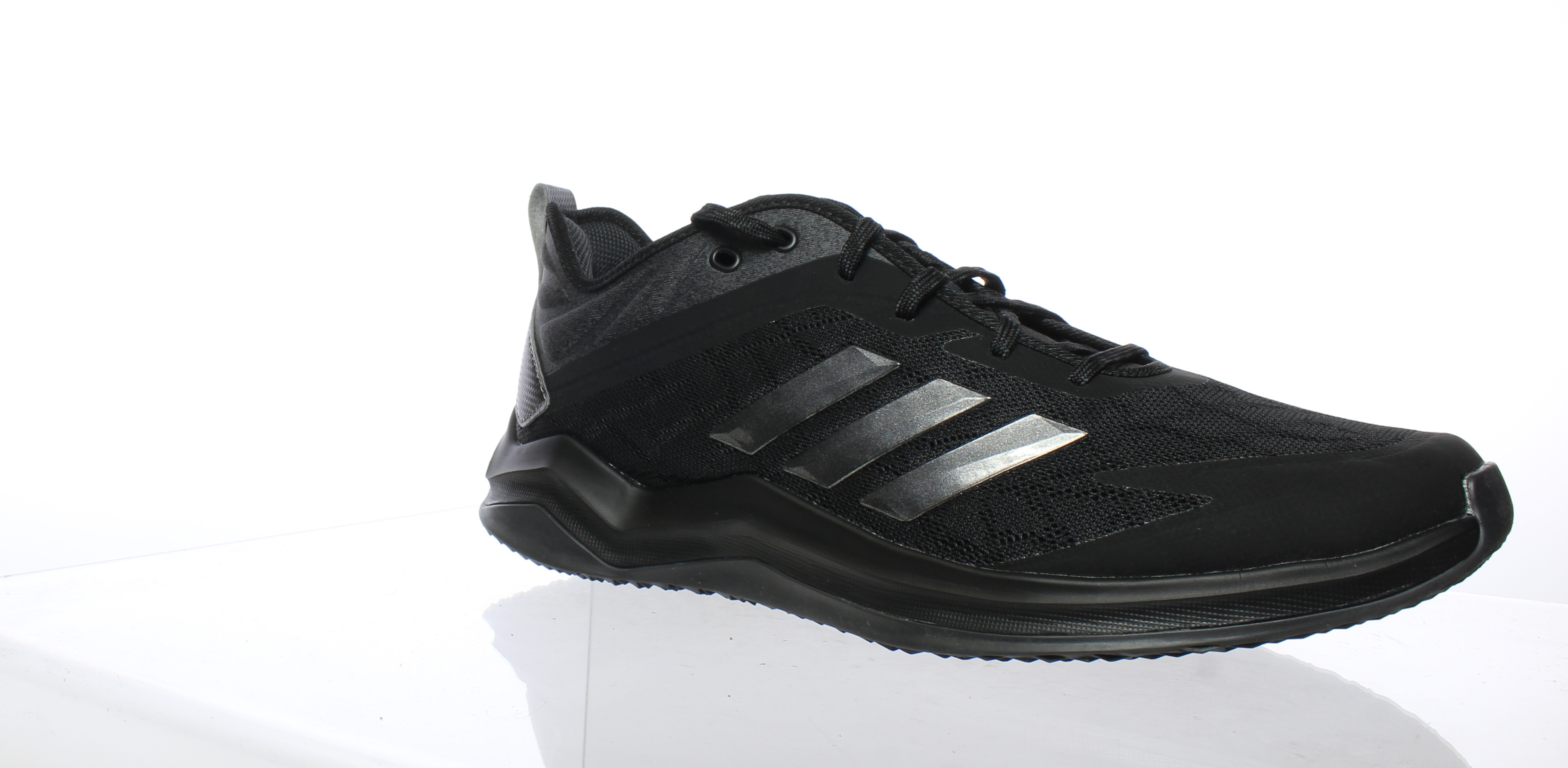 Adidas Mens Speed Trainer 4 Black Running shoes Size 10 (240906)