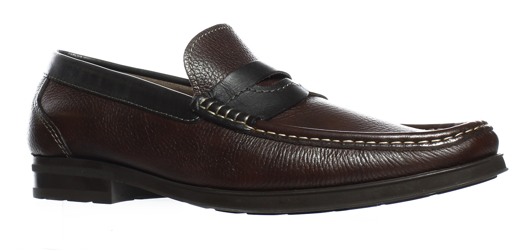 3ee4cbbb797 Florsheim Mens Westbrooke Penny Brown Milled Loafers Size 10.5 (3E) (25324)