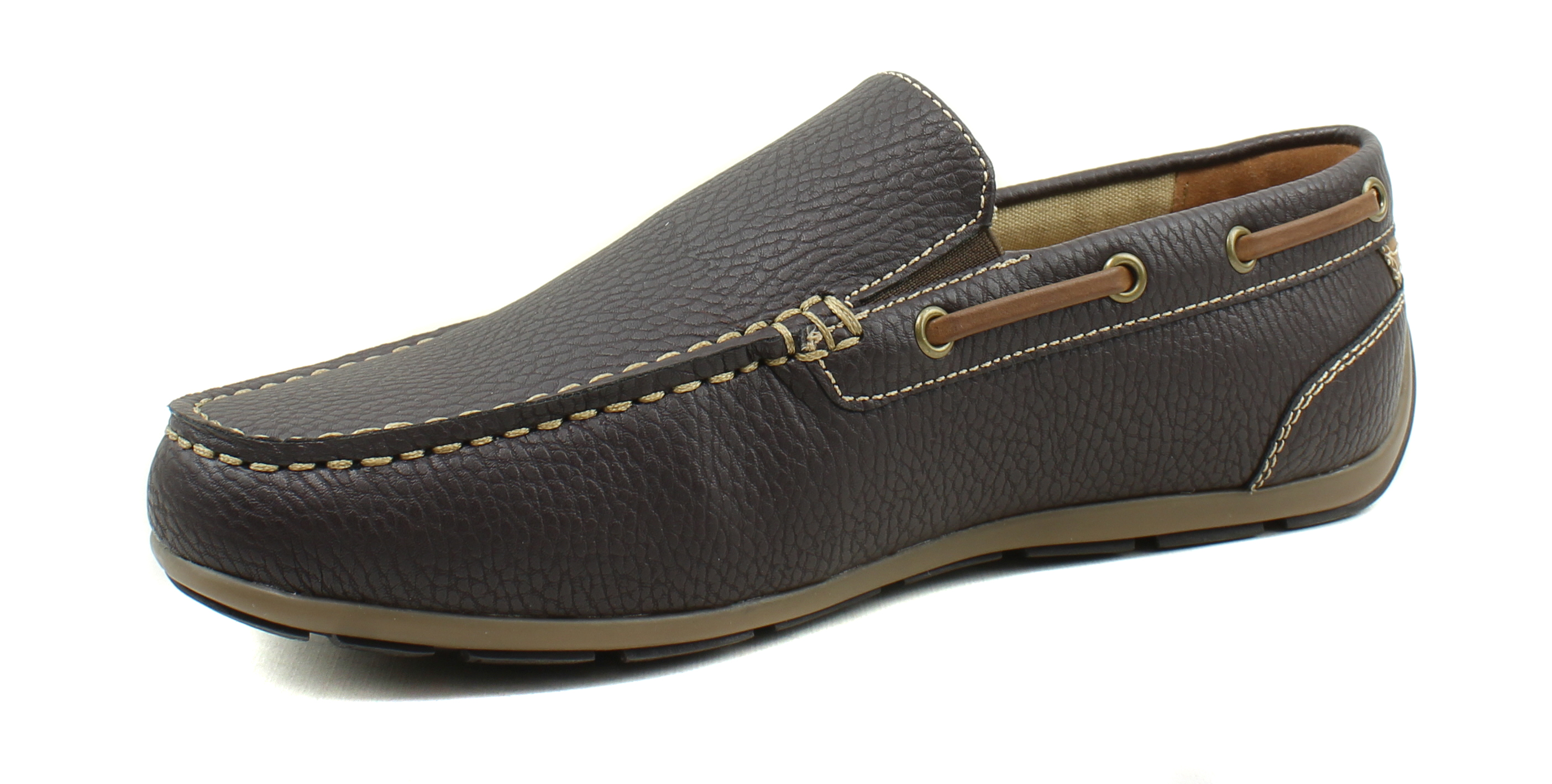 GBX-Homme-Ludlam-Casual-Moc-toe-Slip-on-Chaussures-Bateau-Driving-Loafers miniature 11