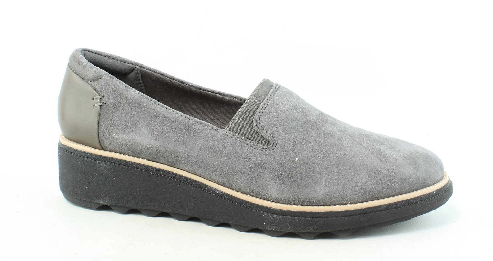 7dad2eff55597 Clarks Womens Sharon Dolly Grey Suede Loafers Size 11 (279800) | eBay