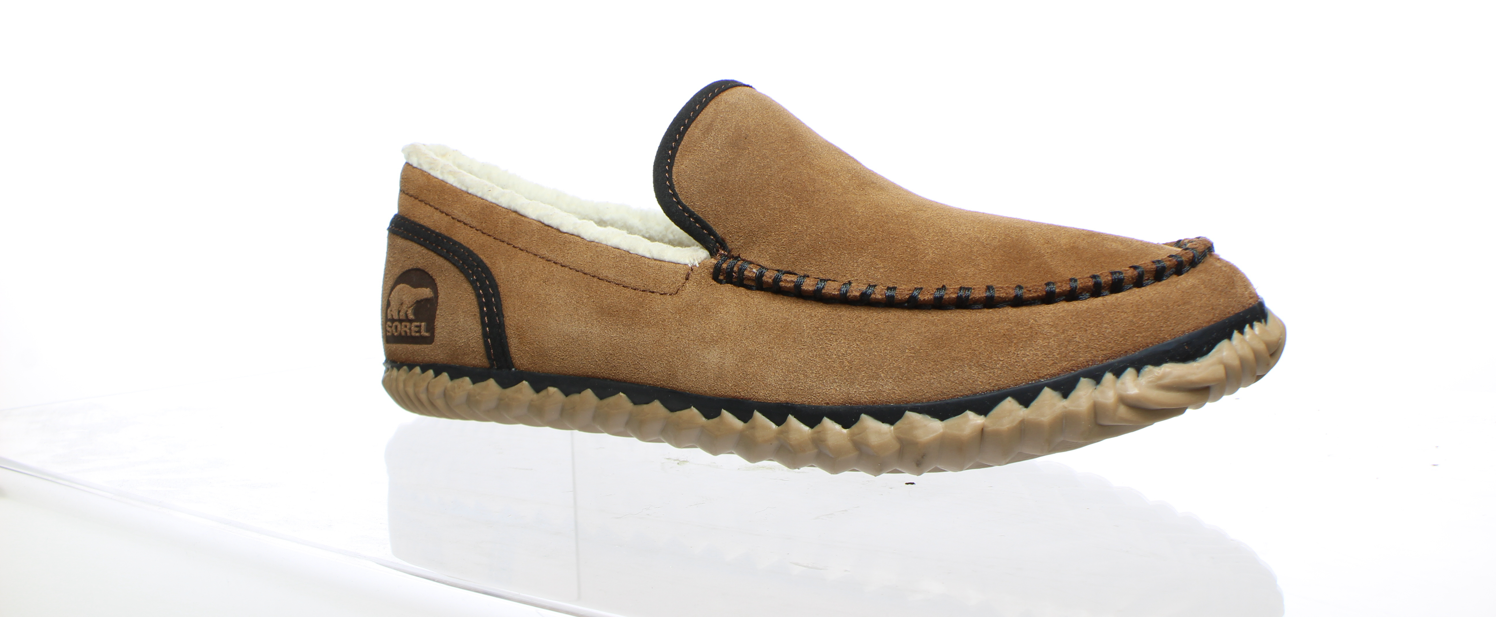 2876e731e18 SOREL Mens Dude Moc Grizzly Bear Moccasin Slippers Size 10.5 ...
