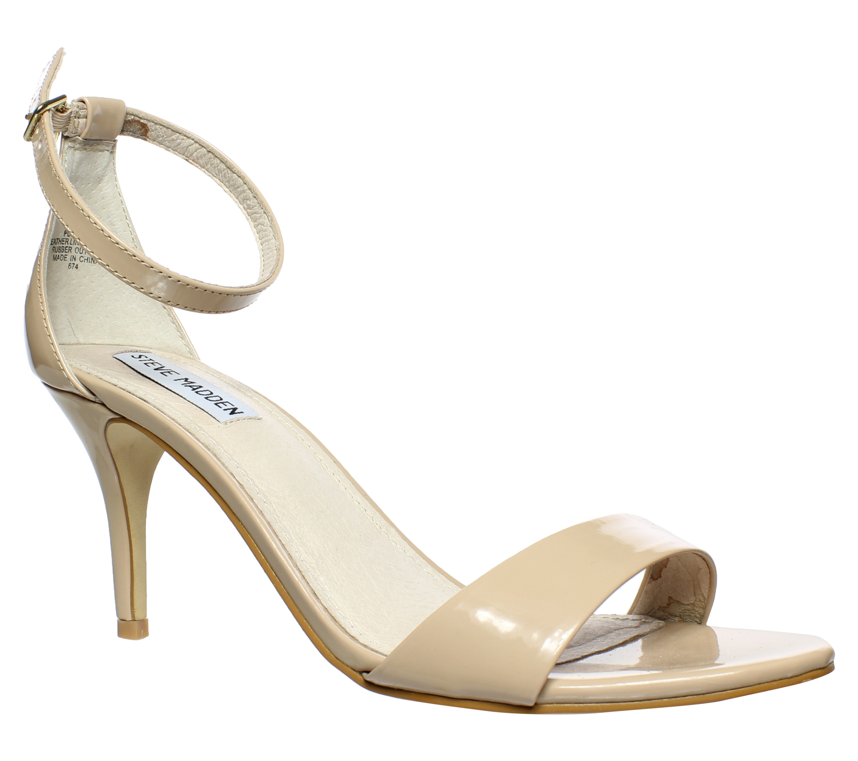527ab673a750 Steve Madden Womens Sillly Blush Patent Sandals Size 10 (29354 ...