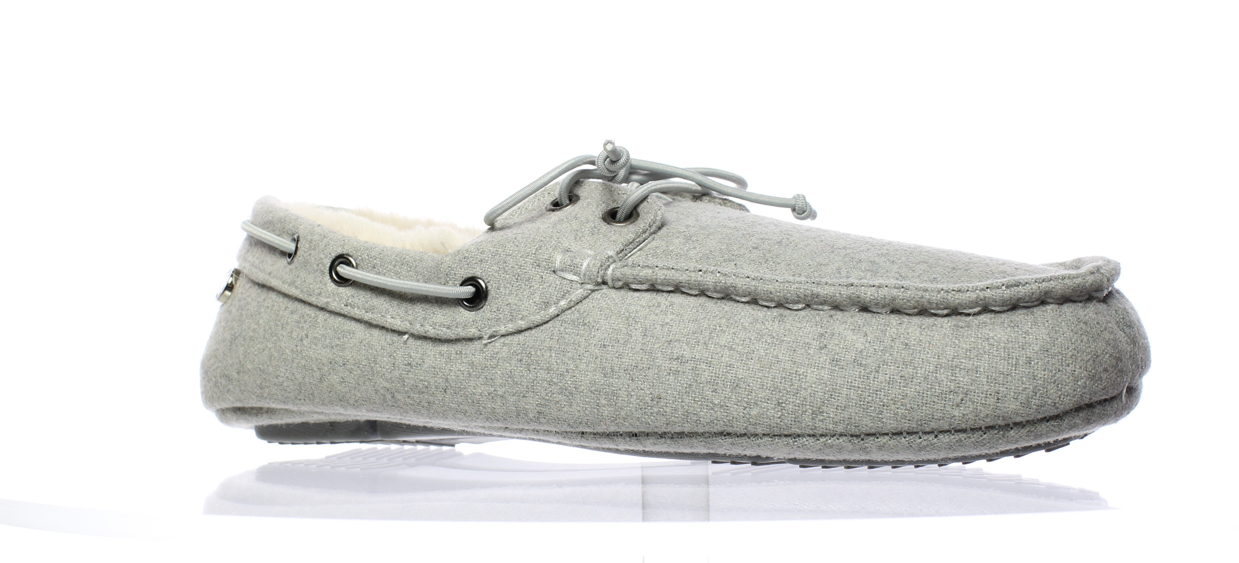 New Steve Madden Mens Psailor Grey Moccasin Slippers Size 13