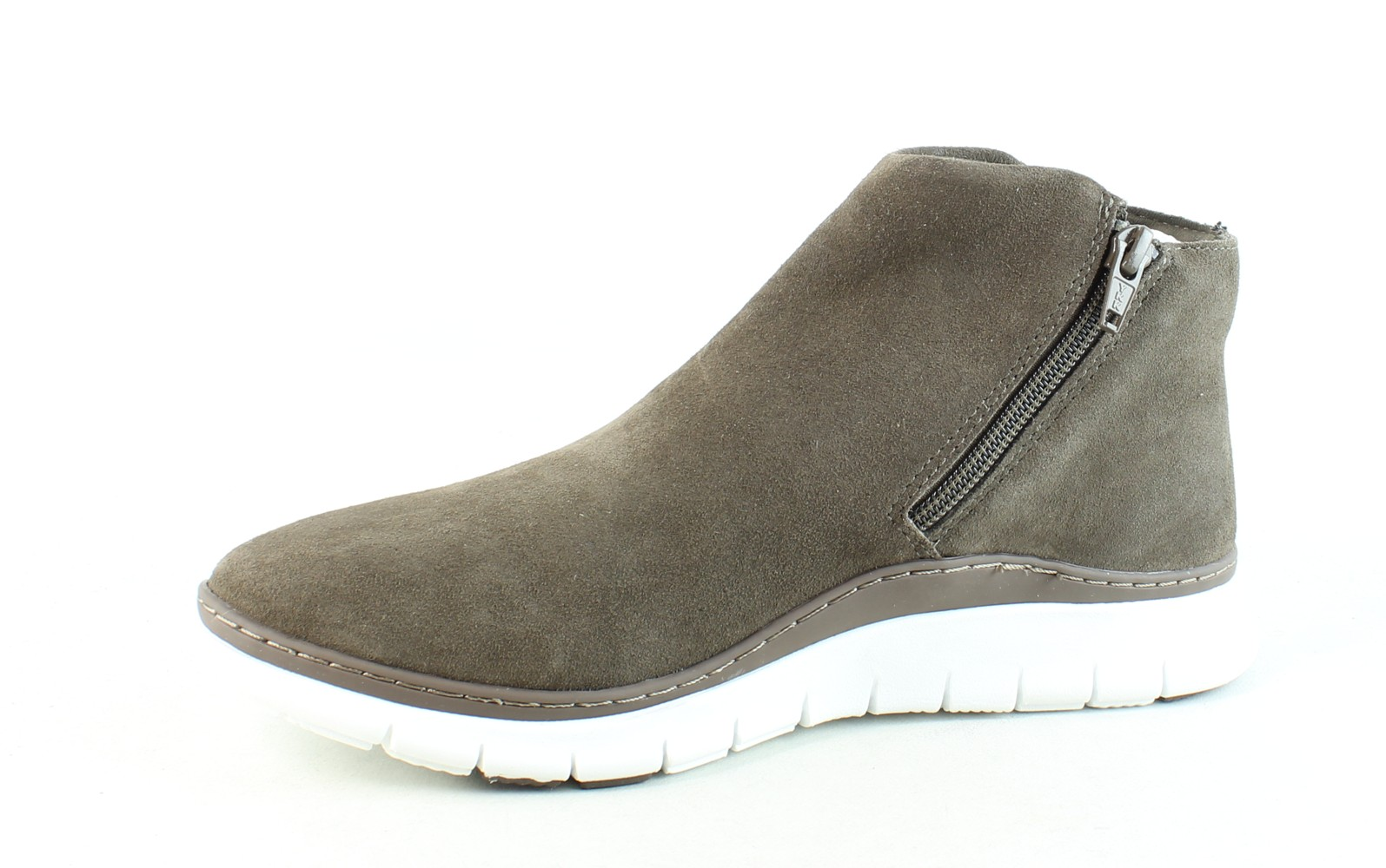 Vionic-Womens-Fresh-Dylan-Suede-Side-Zip-Casual-Comfort-Ankle-Boots thumbnail 9